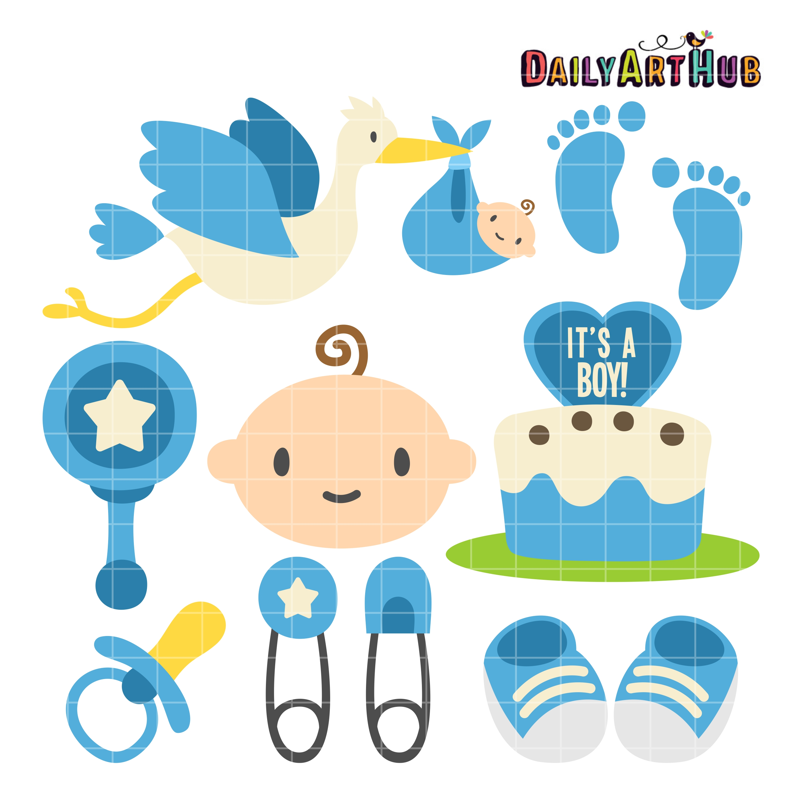boy baby shower clip art set 2 99 boy baby shower clip art set add