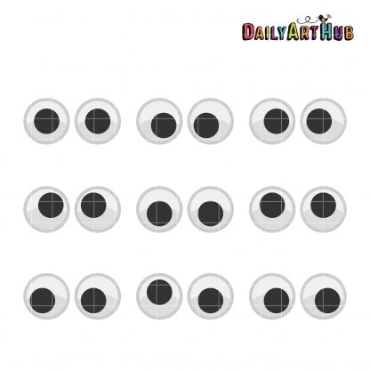 image relating to Printable Googly Eyes named Googly Eyes Clip Artwork Preset