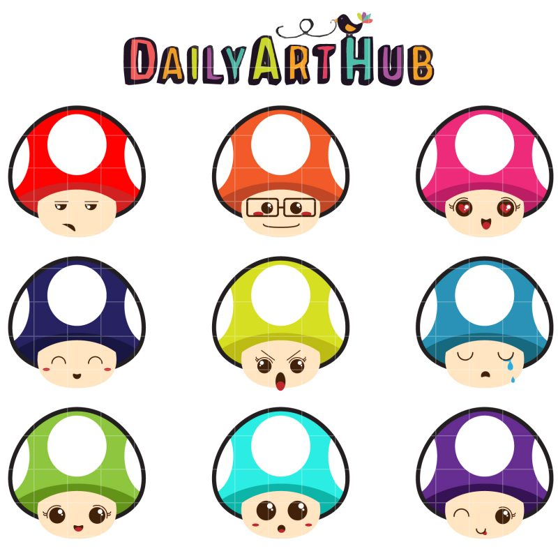 Kawaii Mushrooms-q-01