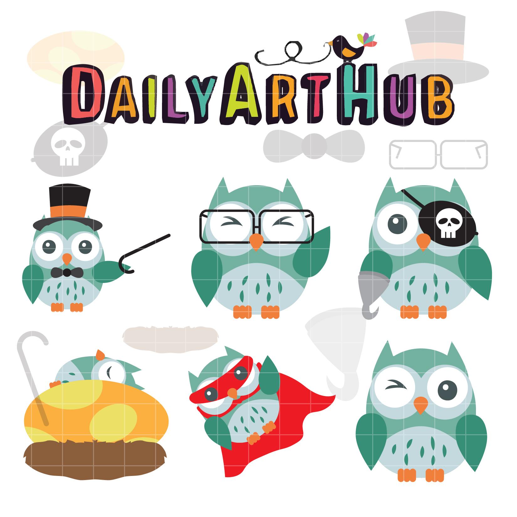 Amazing Clip Art: The Amazing Owl Clip Art Set