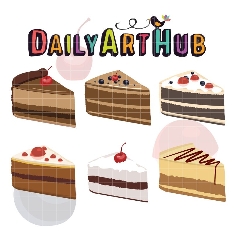 Yummy Cake Clipart : Yummy Slice Of Cake Clip Art Set Daily Art Hub - Free ...