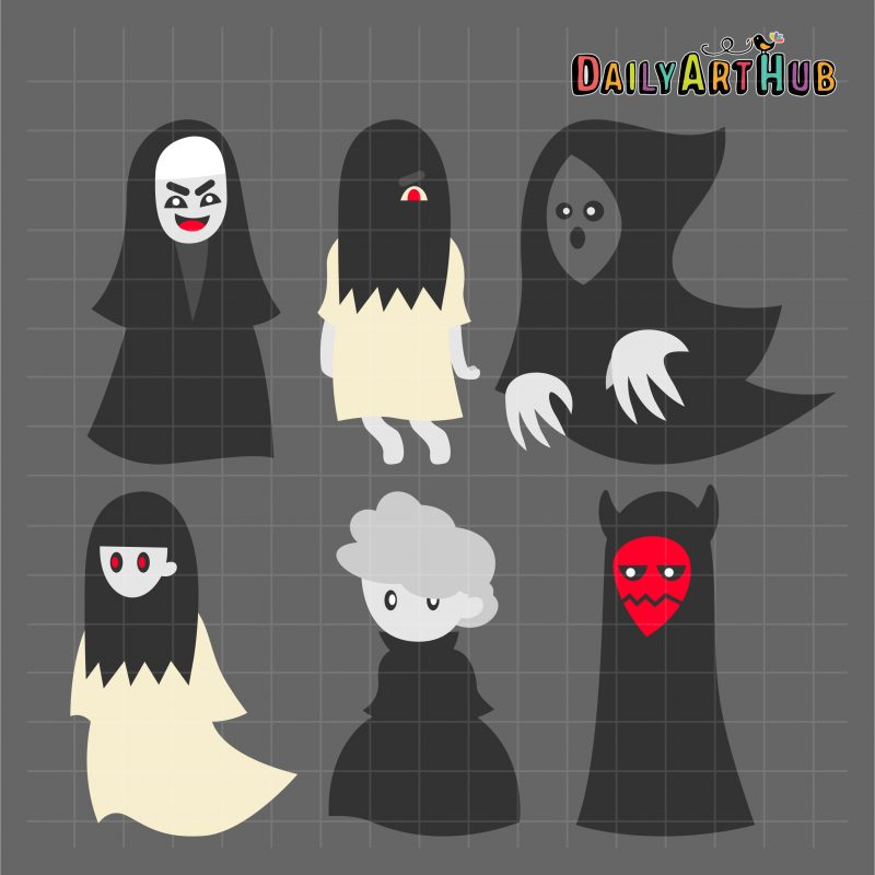 Scary Cute Ghosts