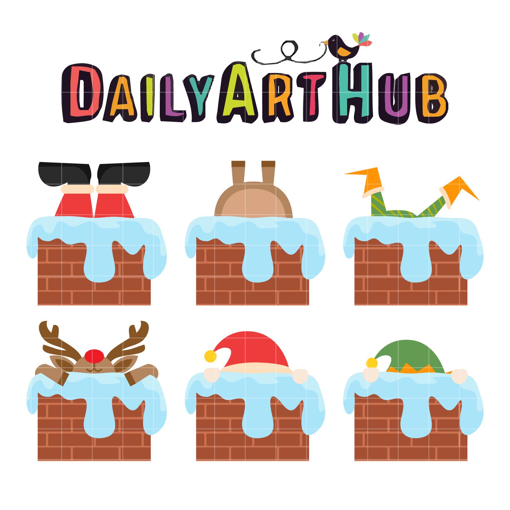 christmas chimney clip art set daily art hub free clip art everyday