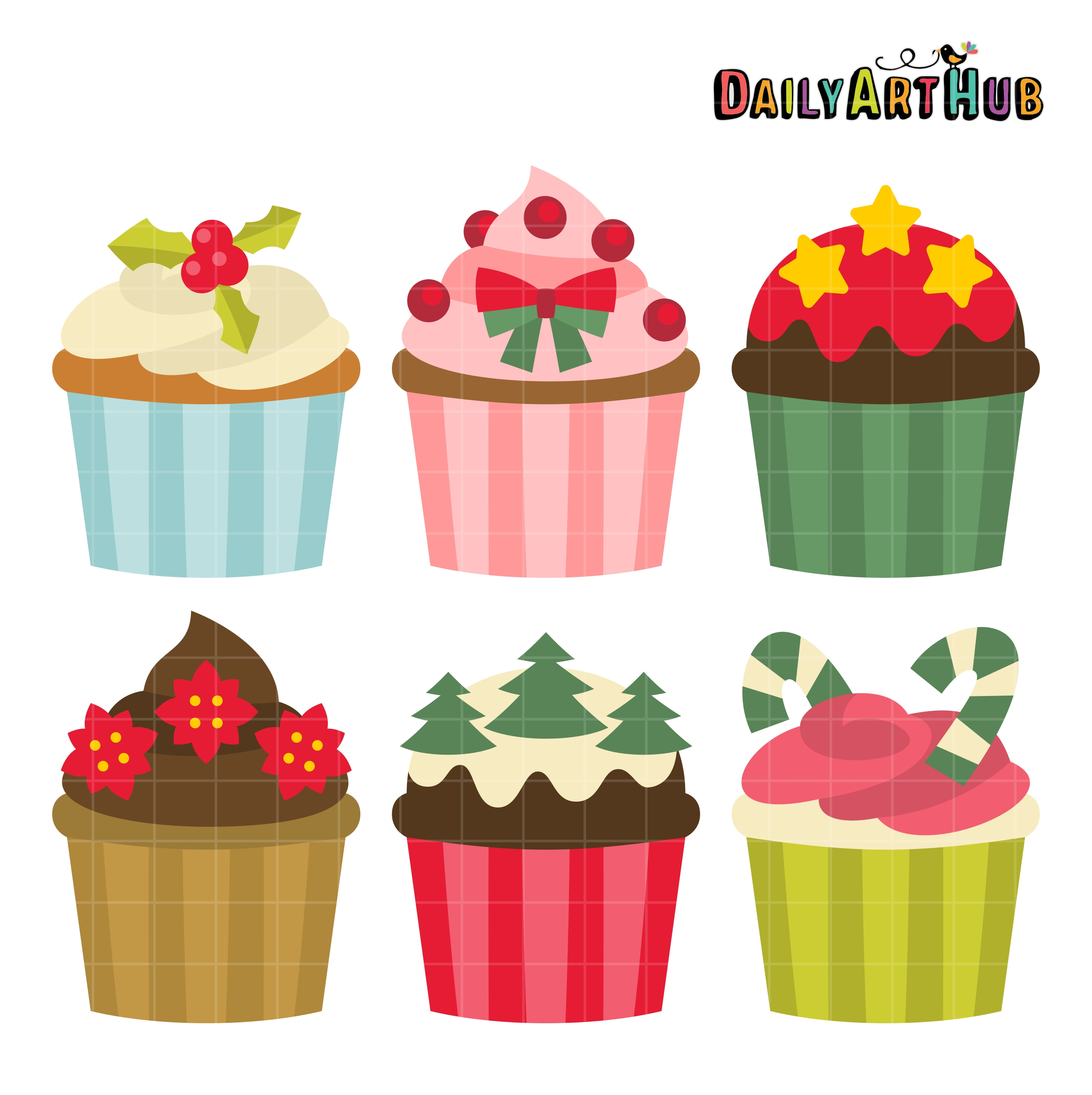christmas cupcakes clip art set daily art hub free clip art everyday rh dailyarthub com christmas food drive clipart christmas food clipart free