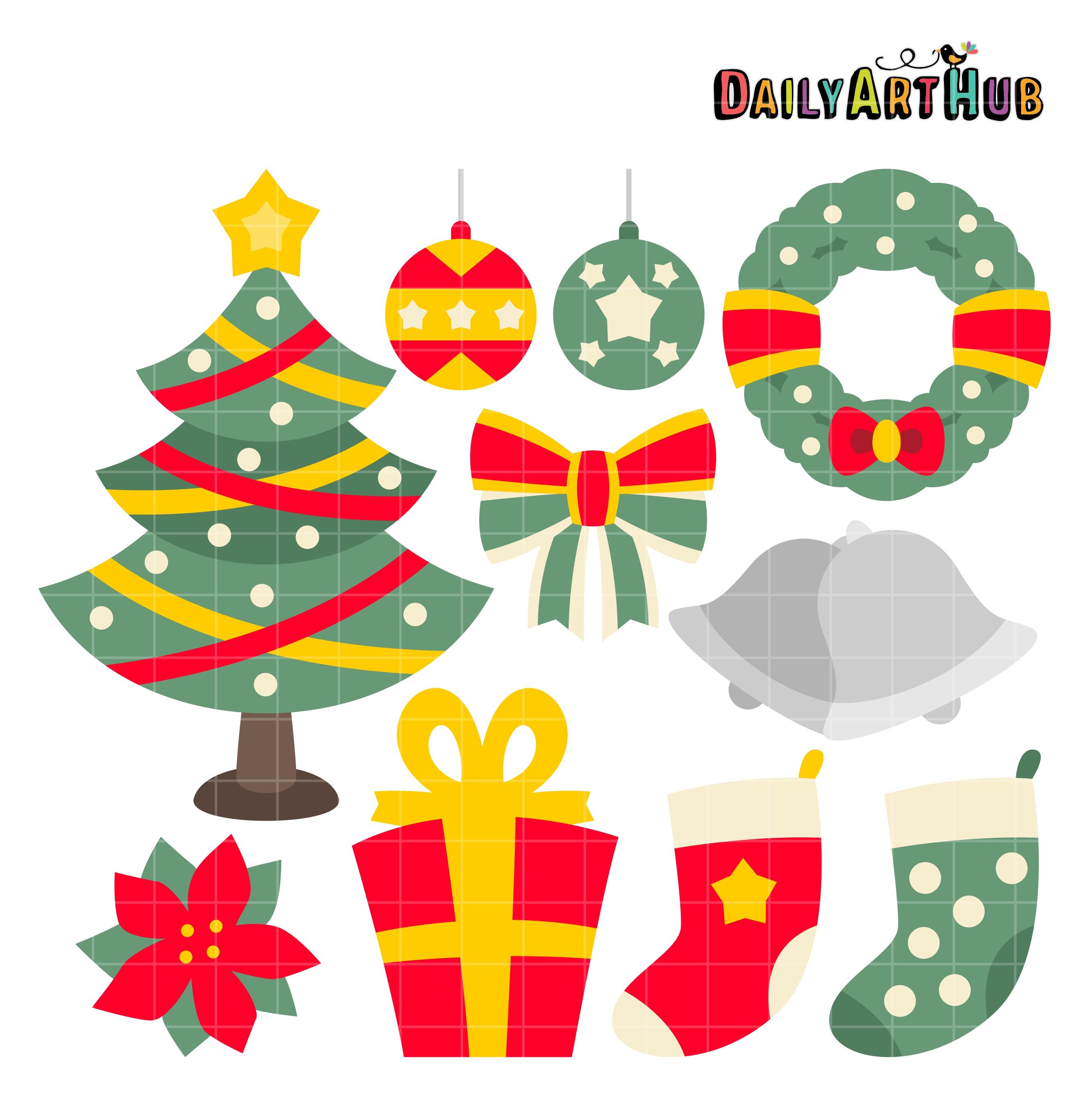 Christmas Things.Christmas Things Clip Art Set