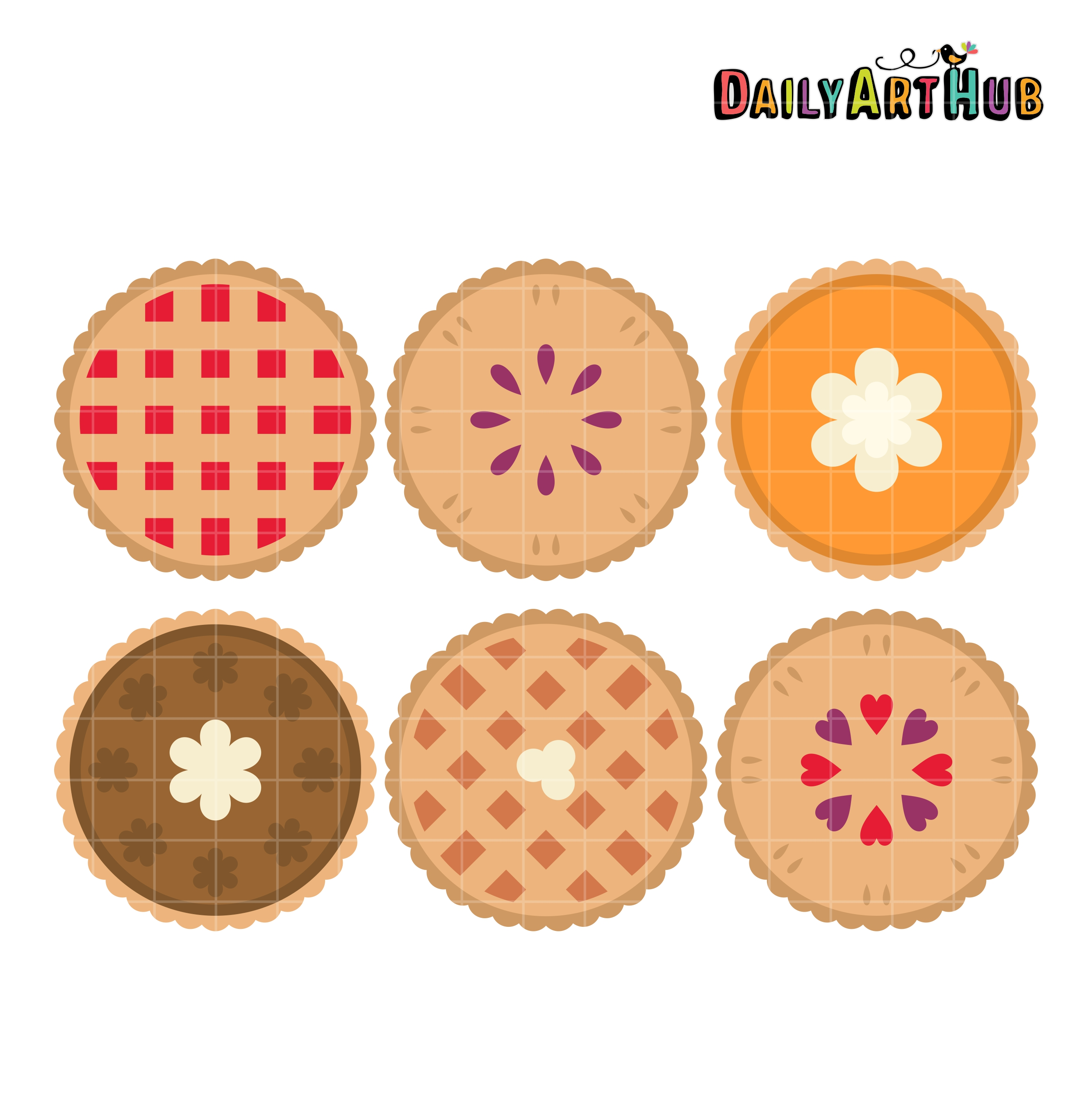 Thanksgiving Pies Clip Art Set - Daily Art Hub - Free Clip ... (2664 x 2670 Pixel)