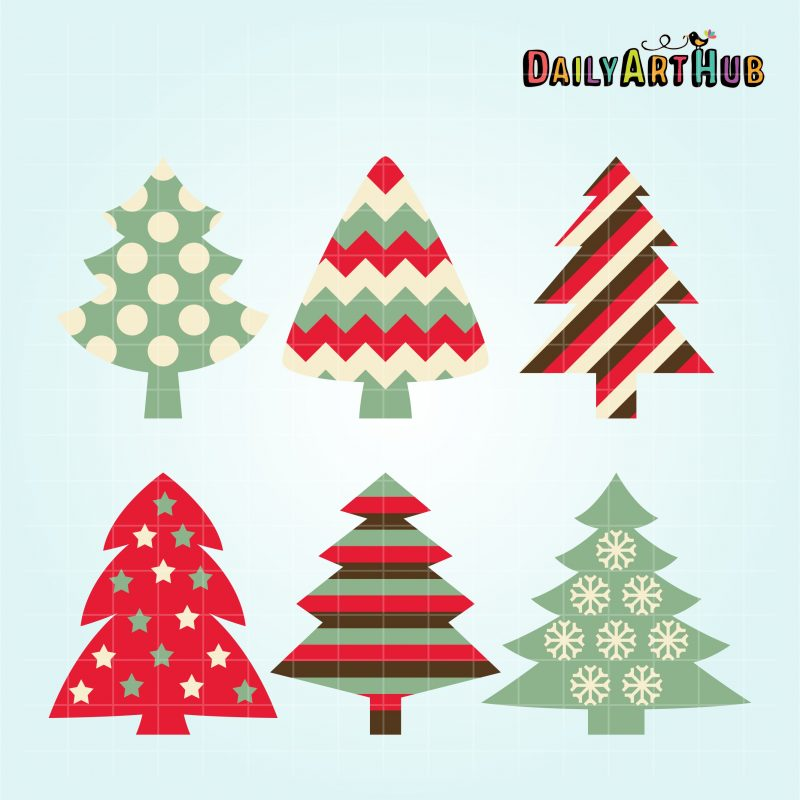 patterned-christmas-trees