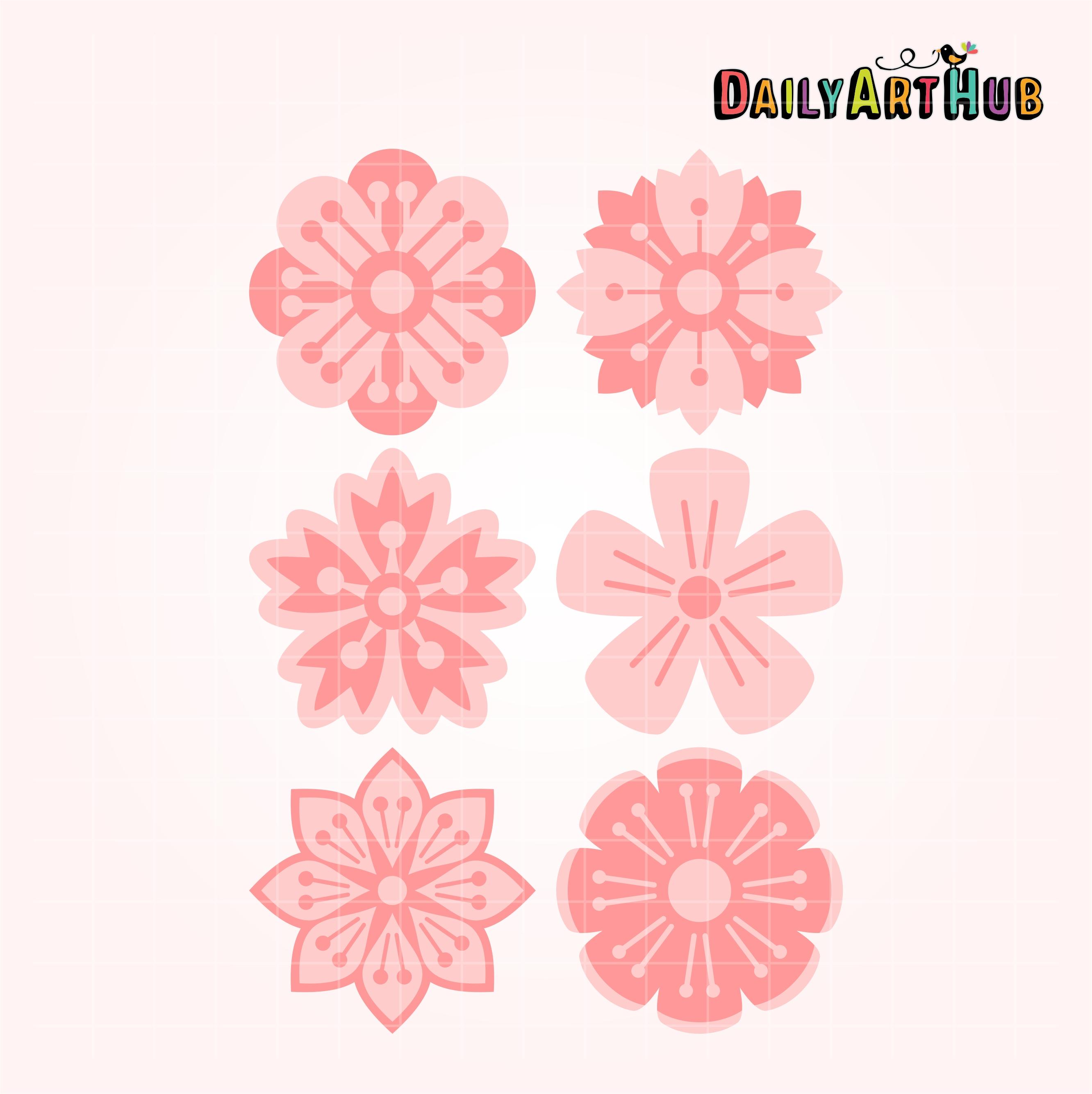 Cherry Blossom Flower Clip Art