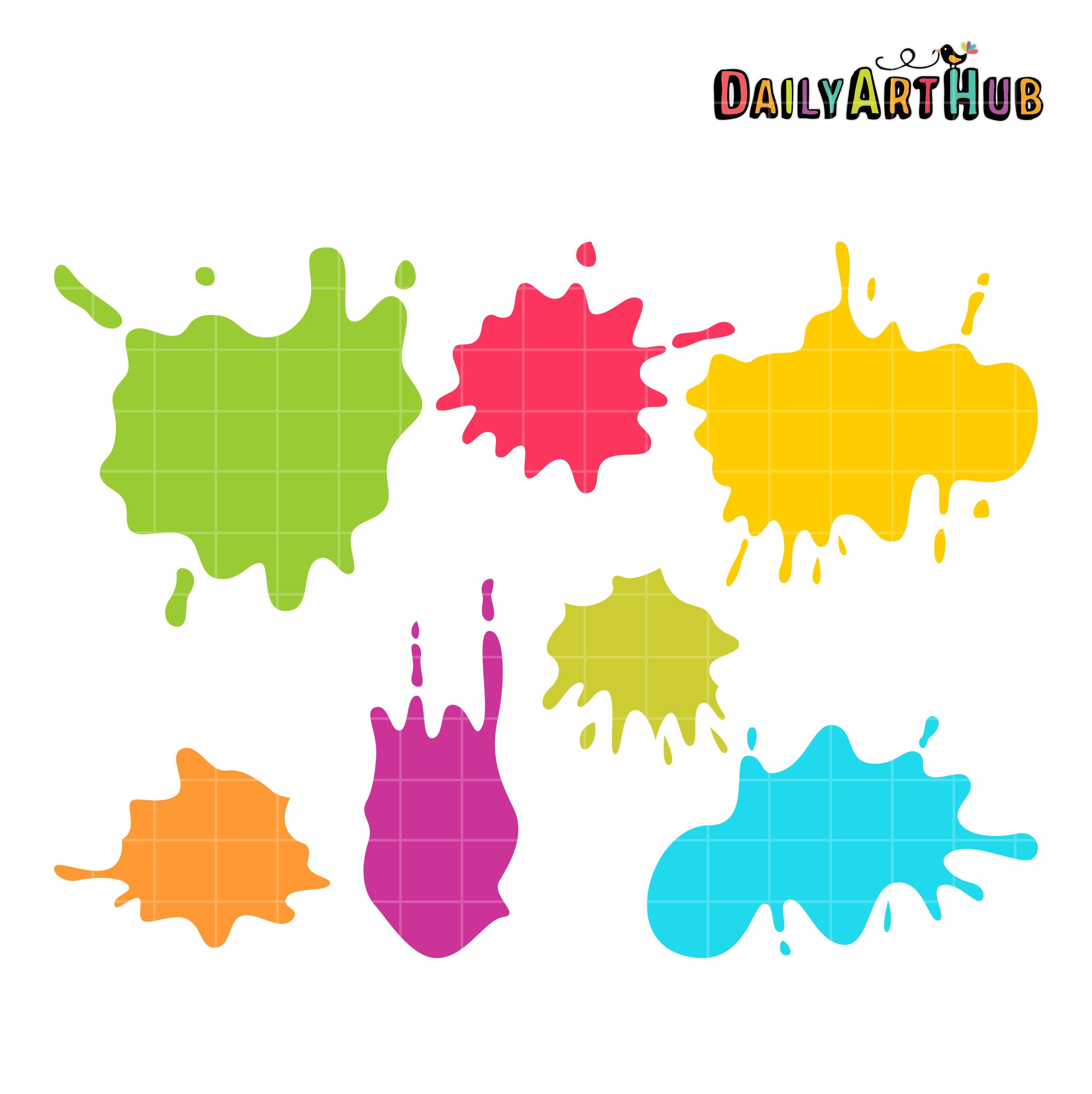 colorful paint splats clip art set daily art hub free clip art rh dailyarthub com colorful clip art free colorful clip art lettering
