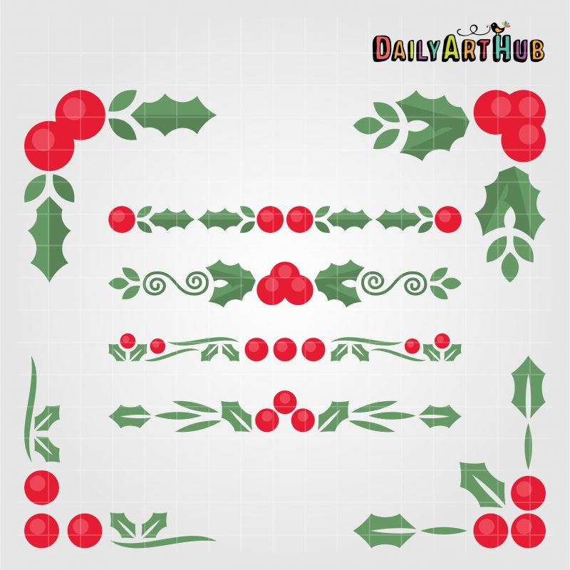 holly-borders-and-corners