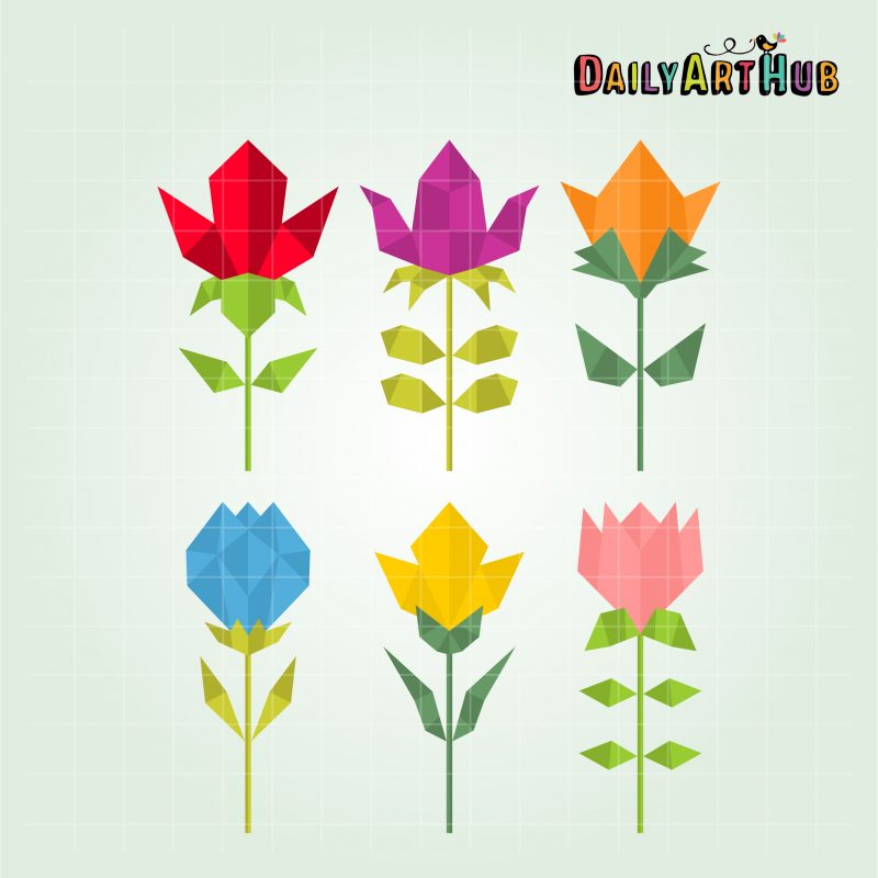 polygonal-flowers