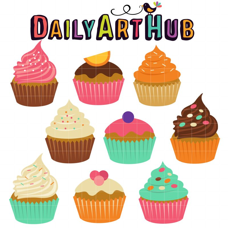 sweet cupcakes clip art set $ 2 99 sweet cupcakes clip art set add to ...