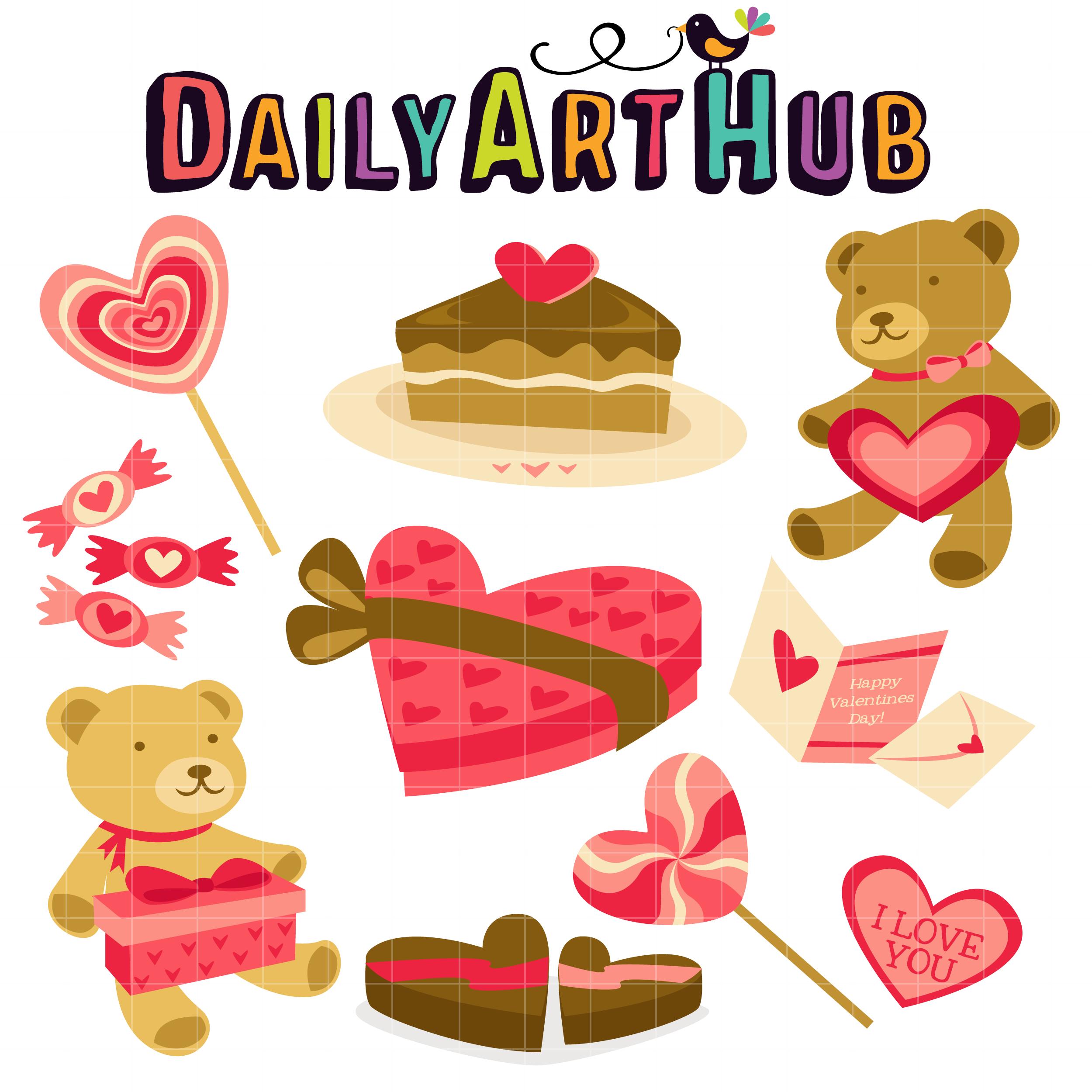 Valentine Goodies Clip Art Set – Daily Art Hub – Free Clip ...
