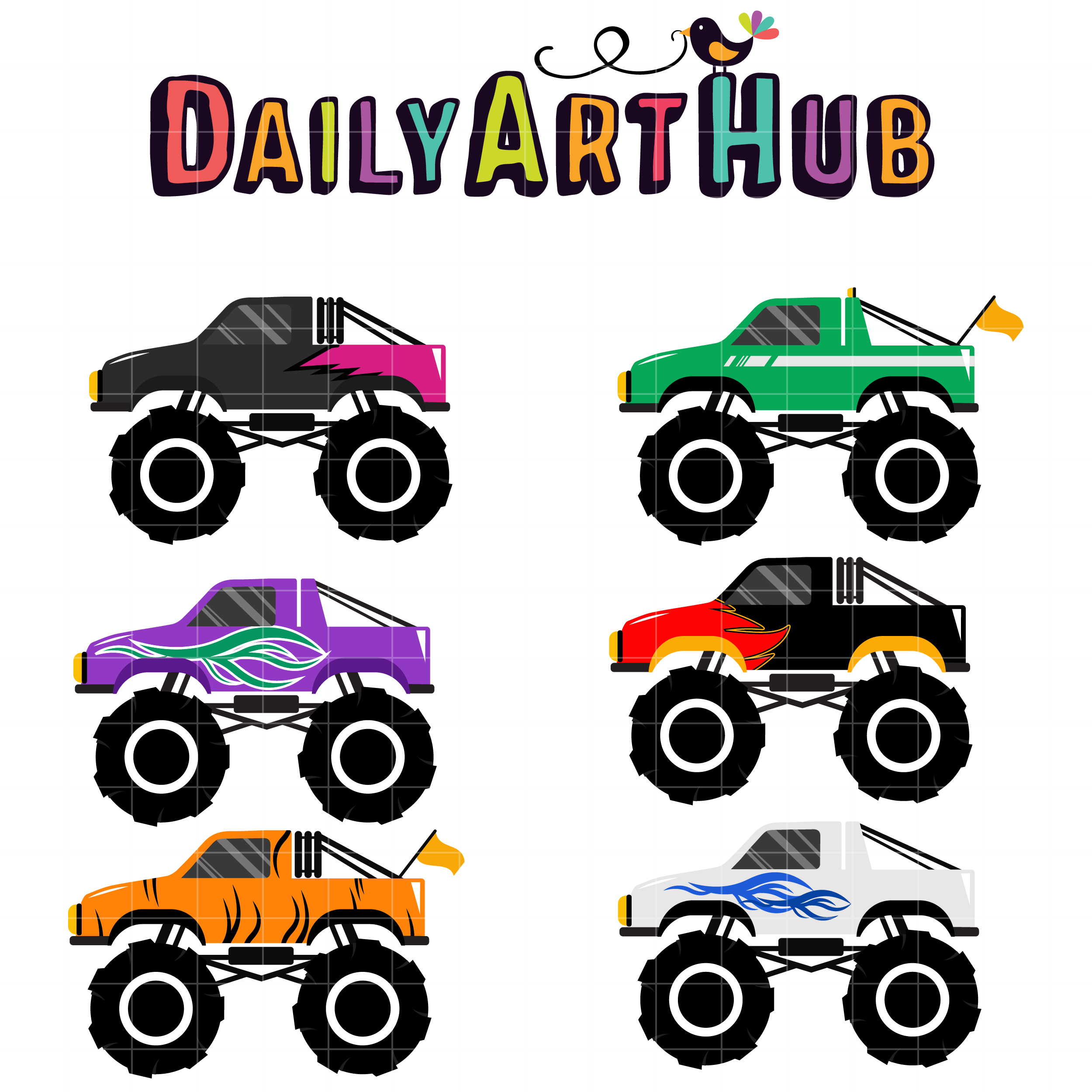 monster truck 5 clip art set daily art hub free clip art everyday rh dailyarthub com monster jam clip art free monster jam clip art free