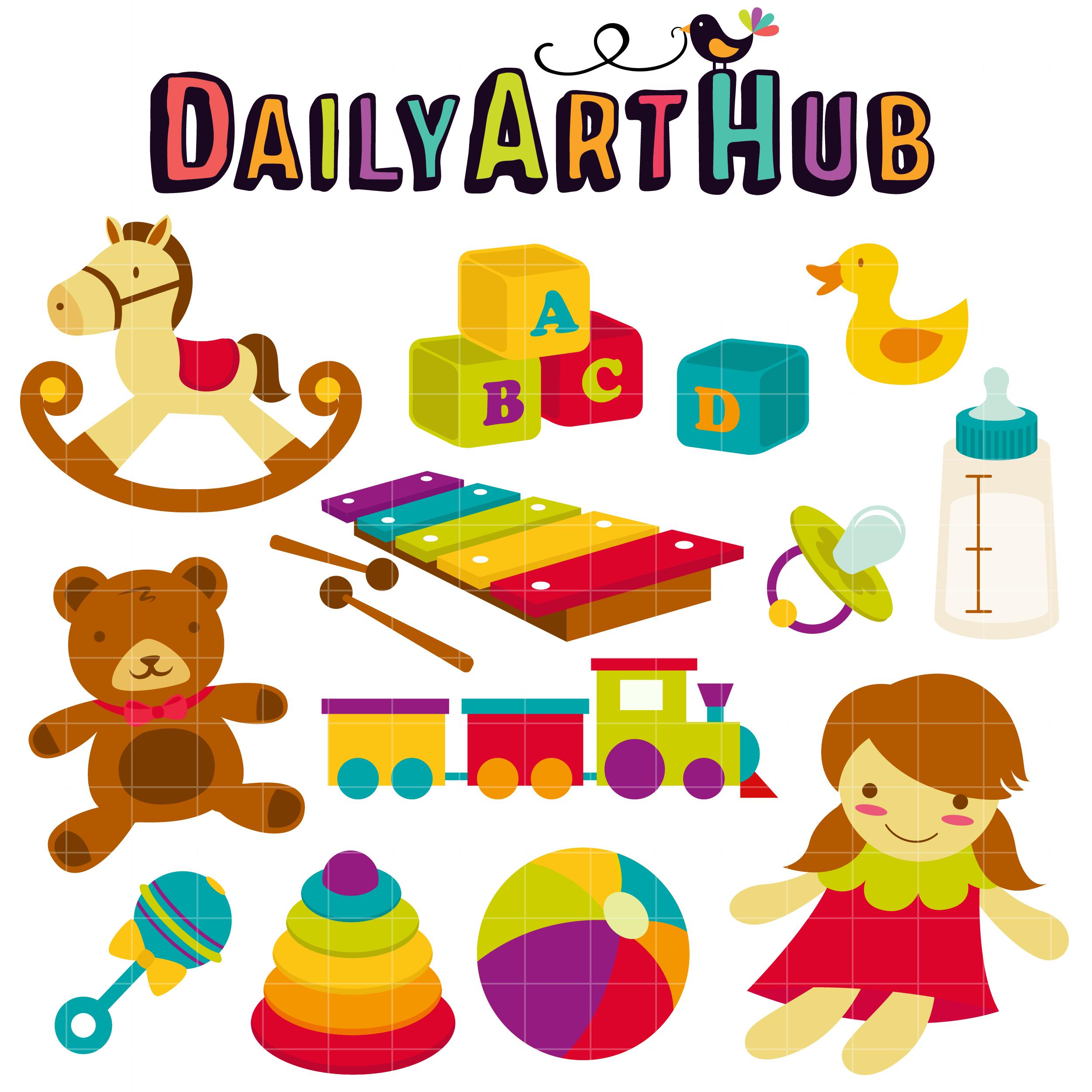 Baby Toys Clip Art Set - Daily Art Hub - Free Clip Art ...