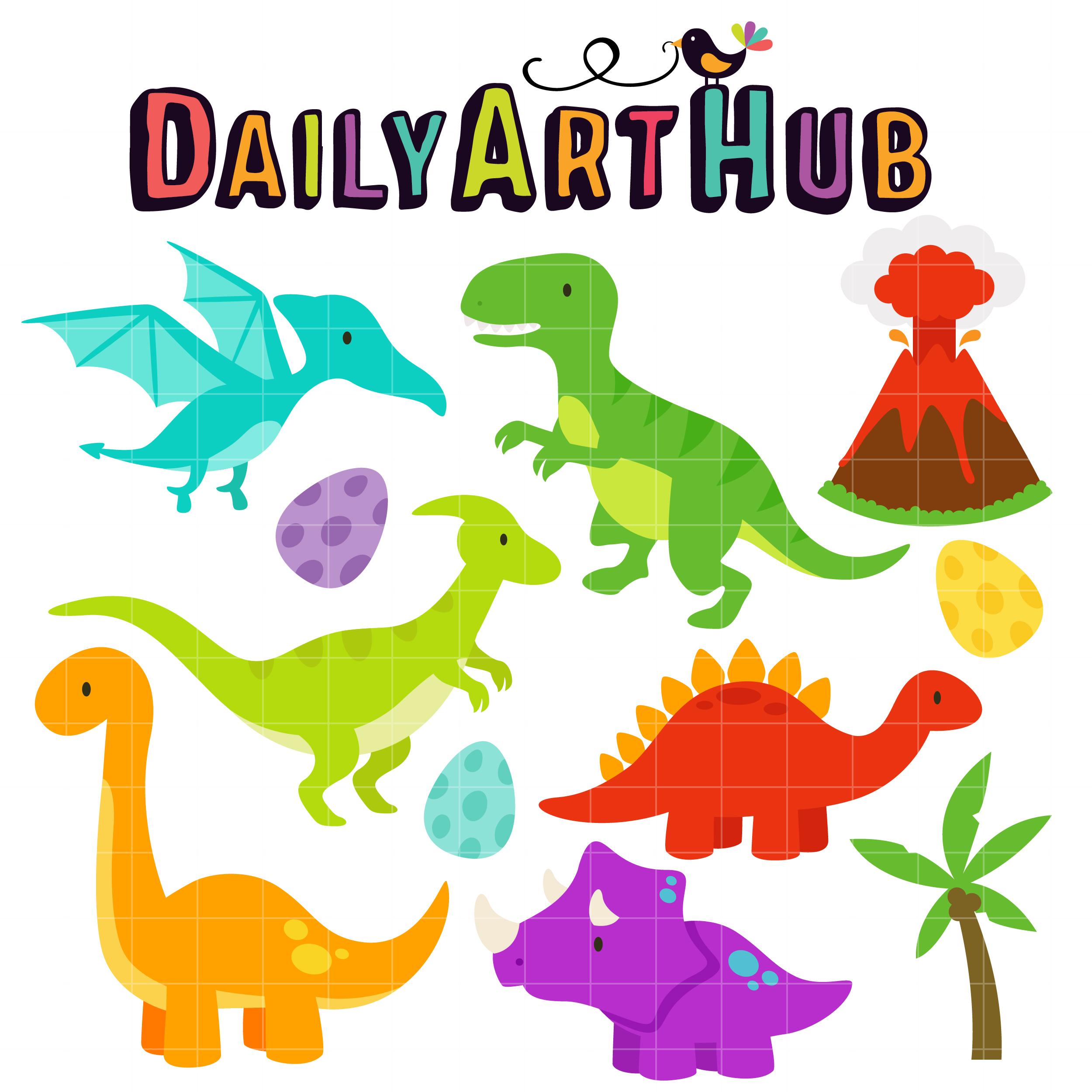 cute dinosaurs clip art set daily art hub free clip art everyday rh dailyarthub com Cute Baby Cartoon Dinosaurs cute dinosaur clip art free