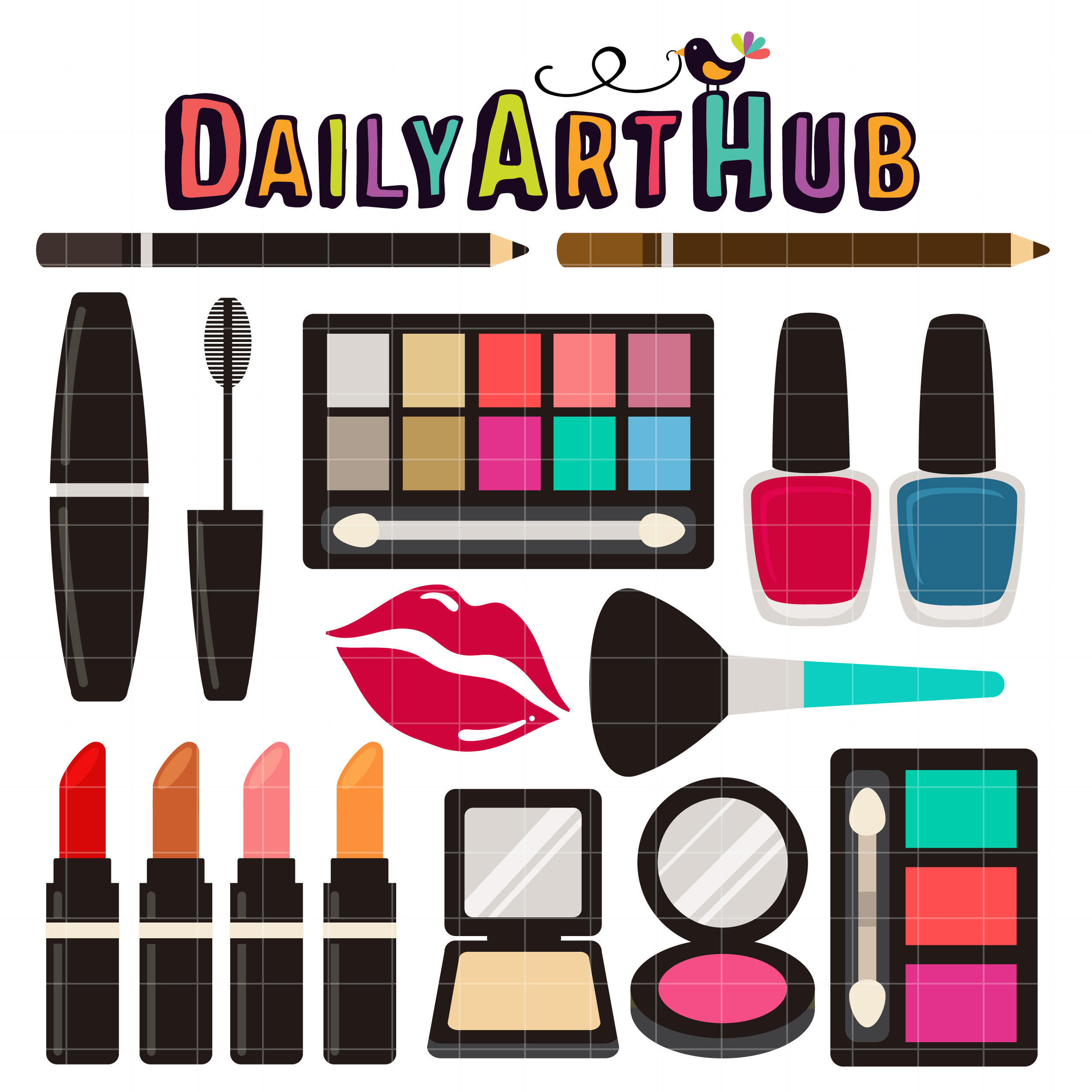make up kit clip art set daily art hub free clip art everyday rh dailyarthub com how to make clip art images how to make clip art transparent