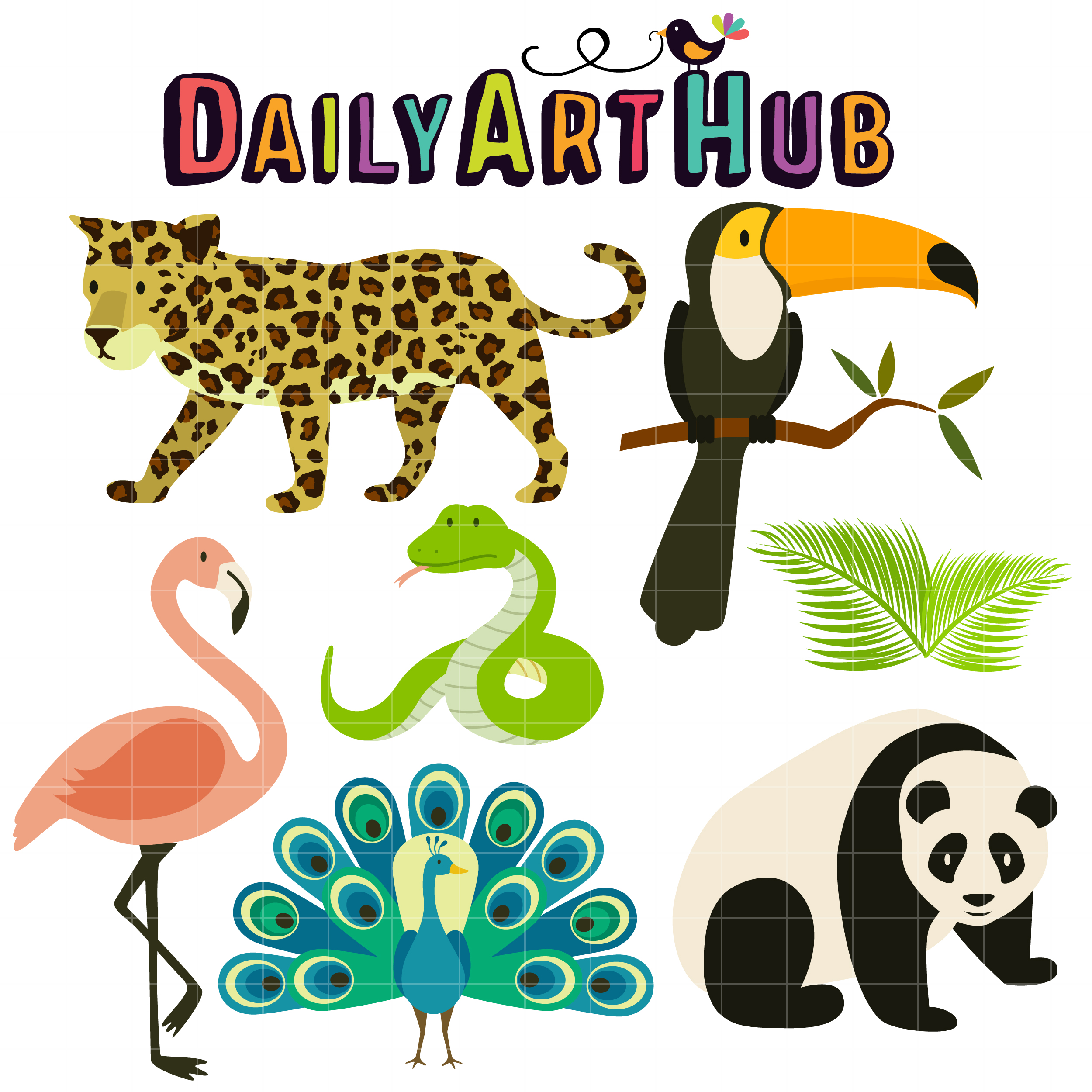 tropical rainforest animals clip art set daily art hub free clip rh dailyarthub com  tropical rainforest animals clipart
