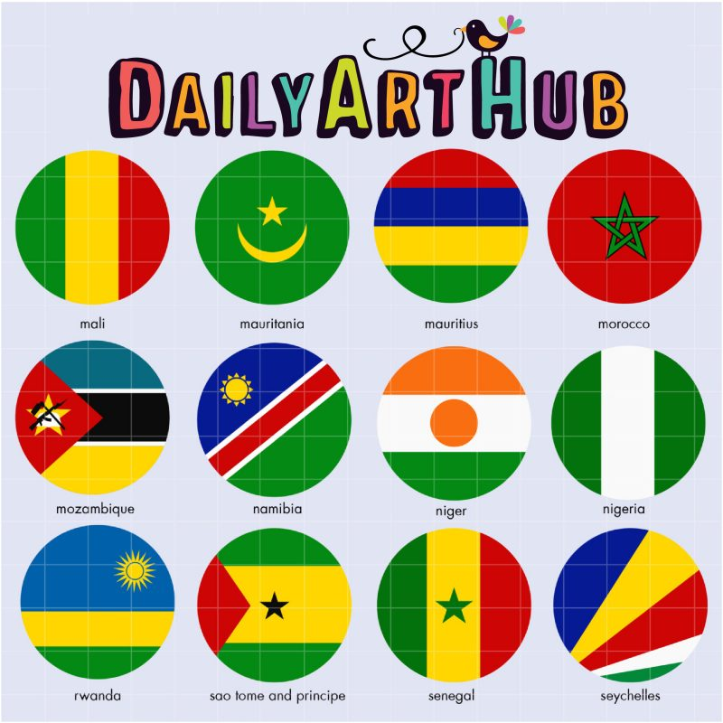 African Flags 3-