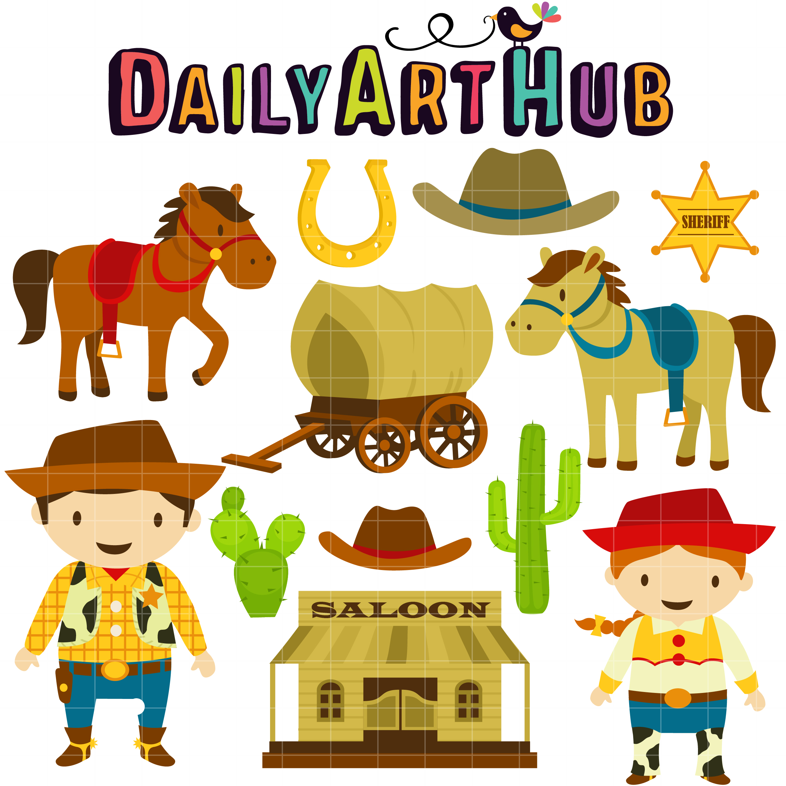 wild west cowboy clip art set daily art hub free clip art everyday rh dailyarthub com free wild west clip art vector Old West Town Clip Art
