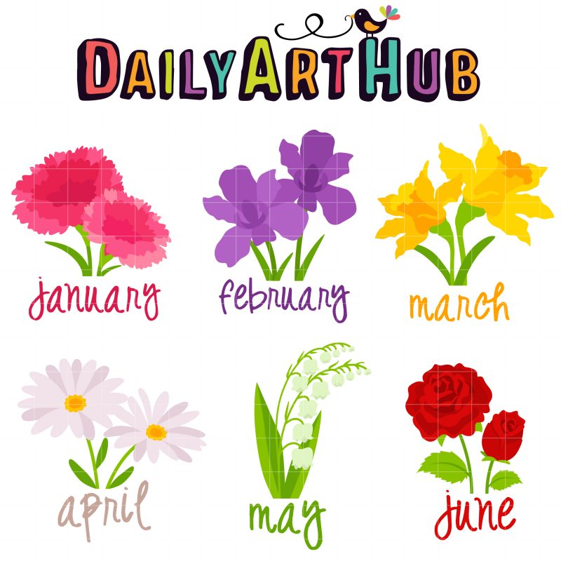 DAH Flowers of the Month (Jan-June)