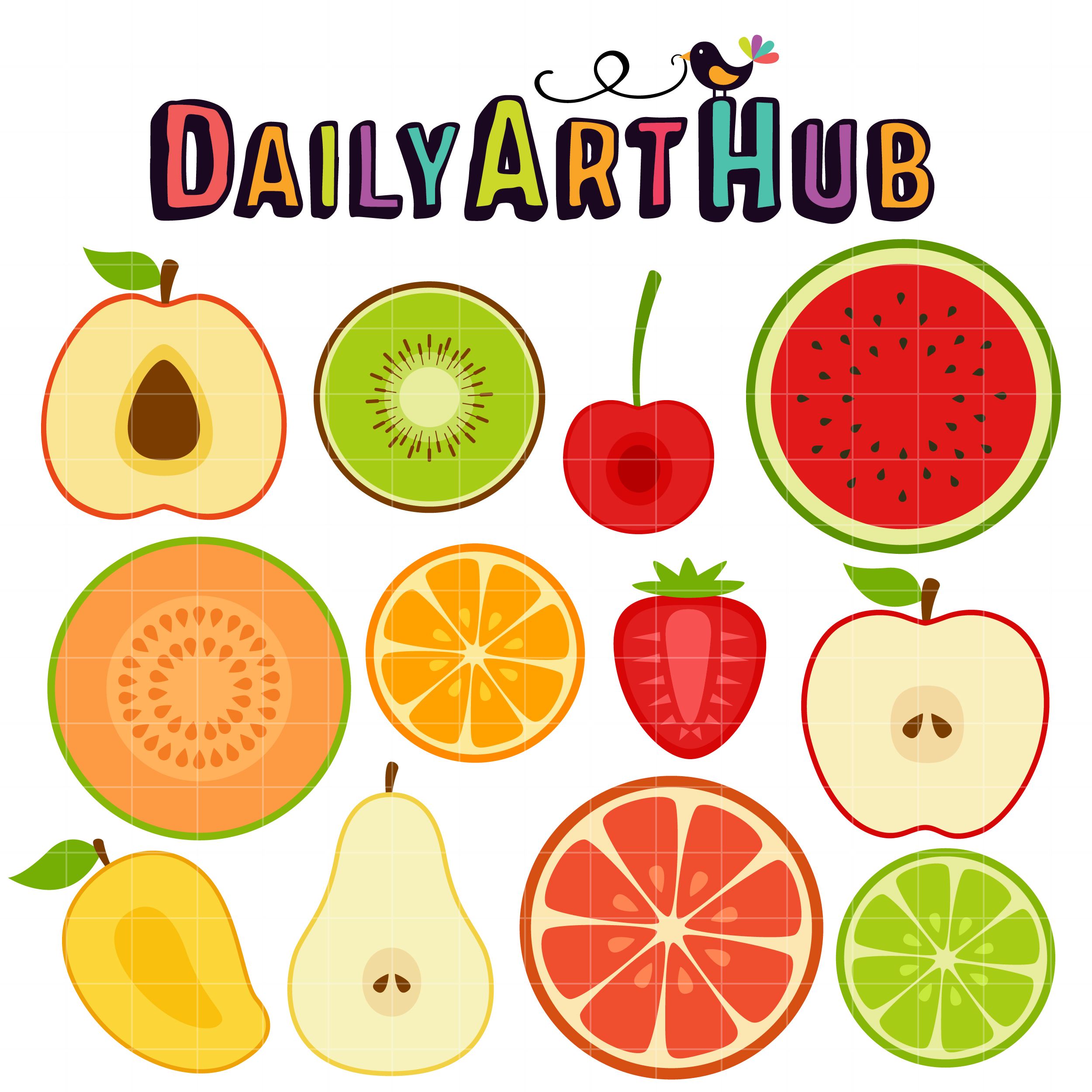 Fruit Slice Clip Art Set - Daily Art Hub - Free Clip Art ...
