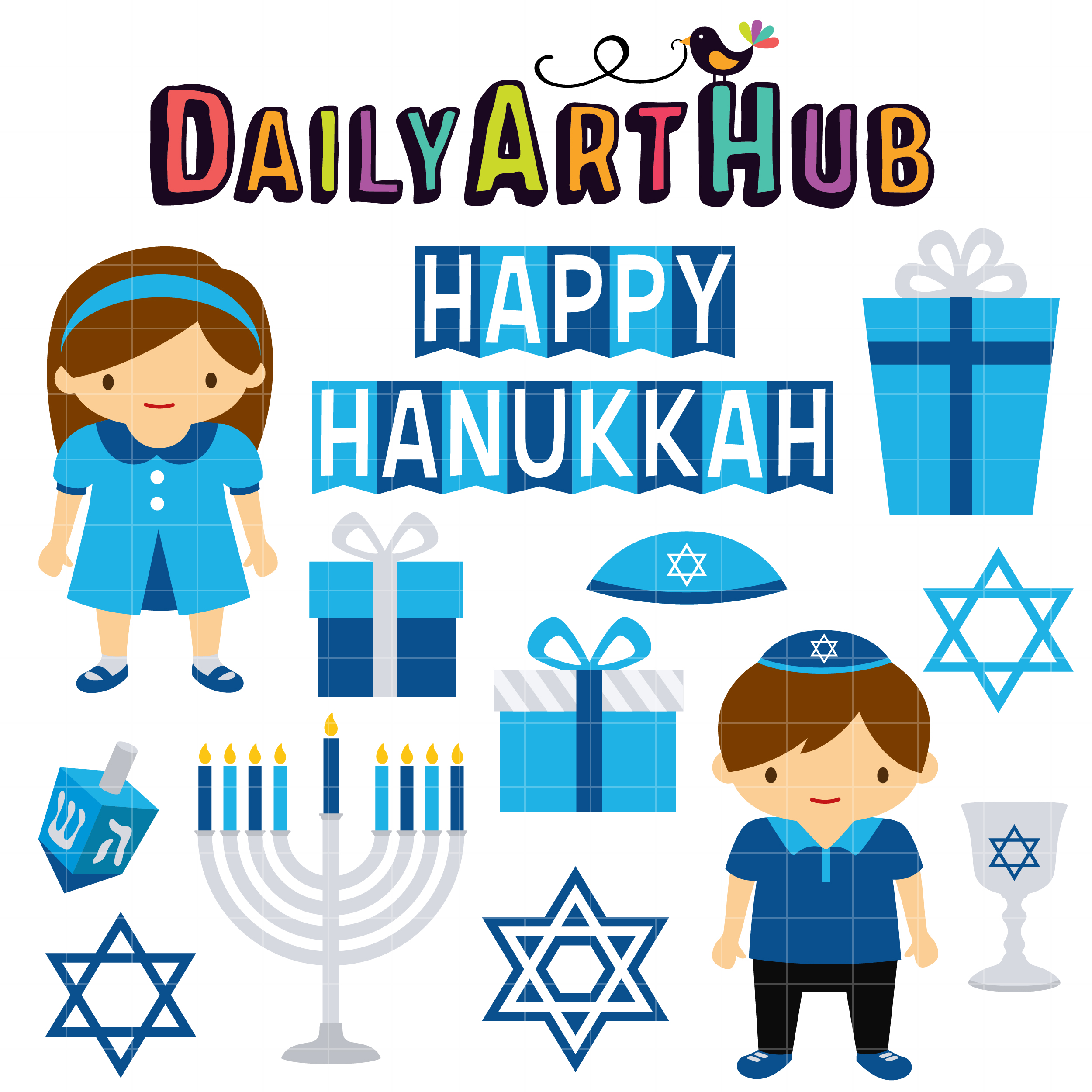 happy hanukkah clip art set daily art hub free clip art everyday rh dailyarthub com christmas hanukkah clip art christmas hanukkah clip art