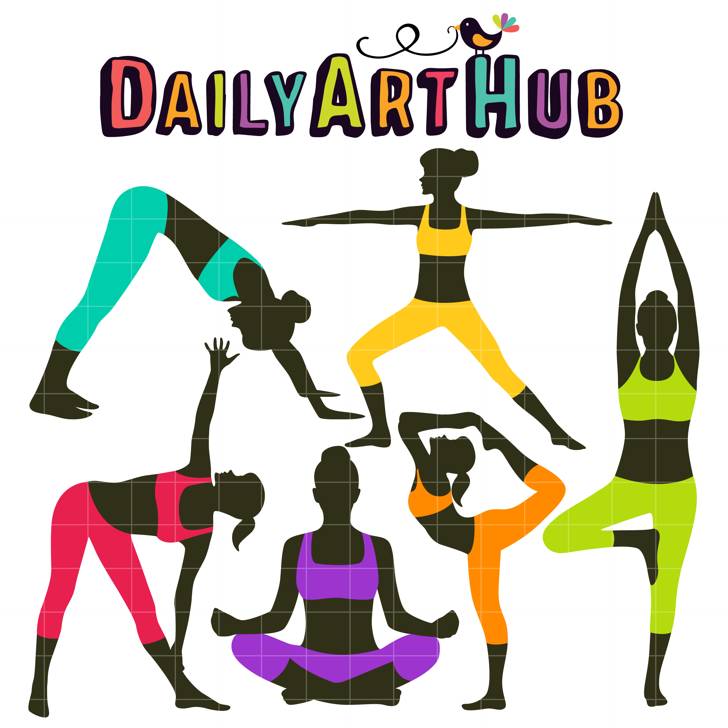 Yoga Poses Clip Art Set Daily Art Hub Free Clip Art Everyday