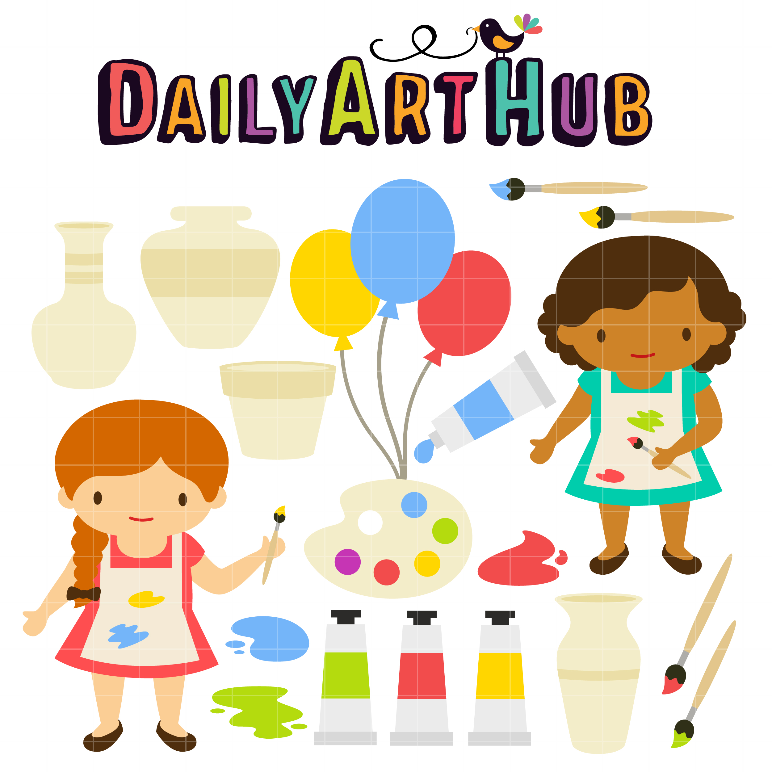 Pottery Party Birthday Party Ideas – Pottery Painting Party Invitations