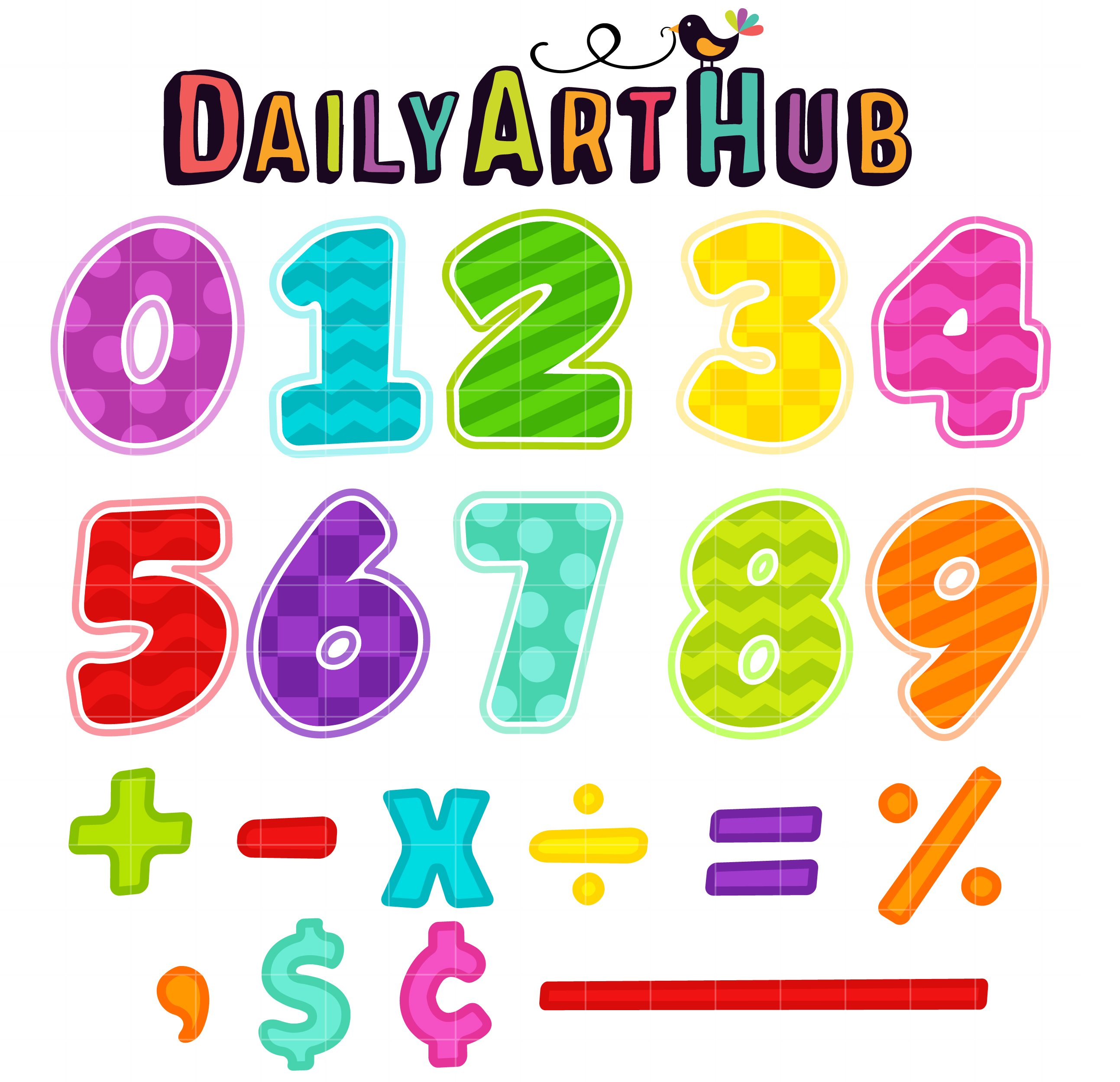 Learning Math Clip Kids Learning Math Clipart