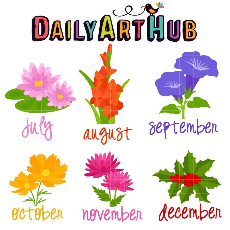 DAH Flowers of the Month (July-Dec)