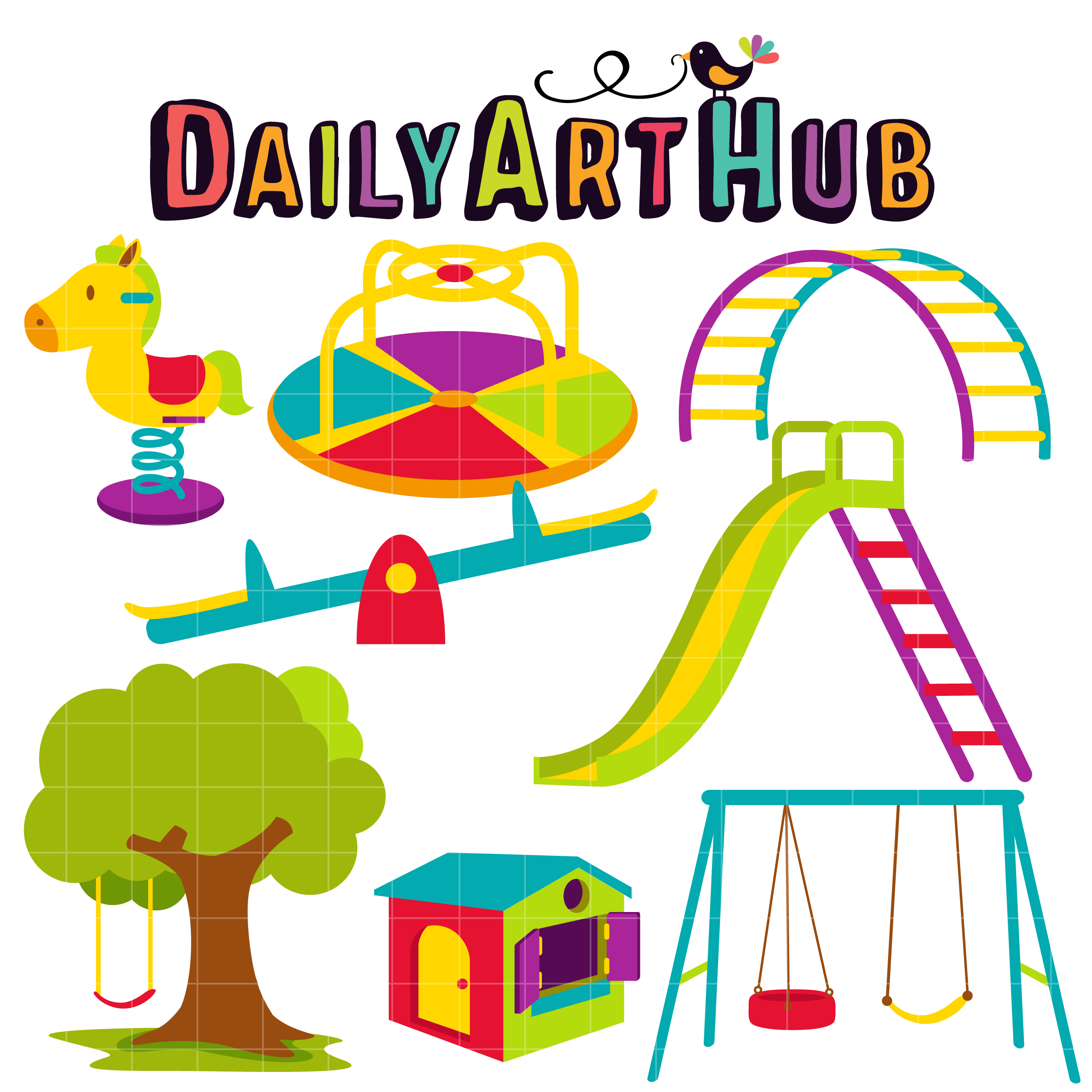 kiddie playground clip art set daily art hub free clip art everyday rh dailyarthub com free clipart playground slide