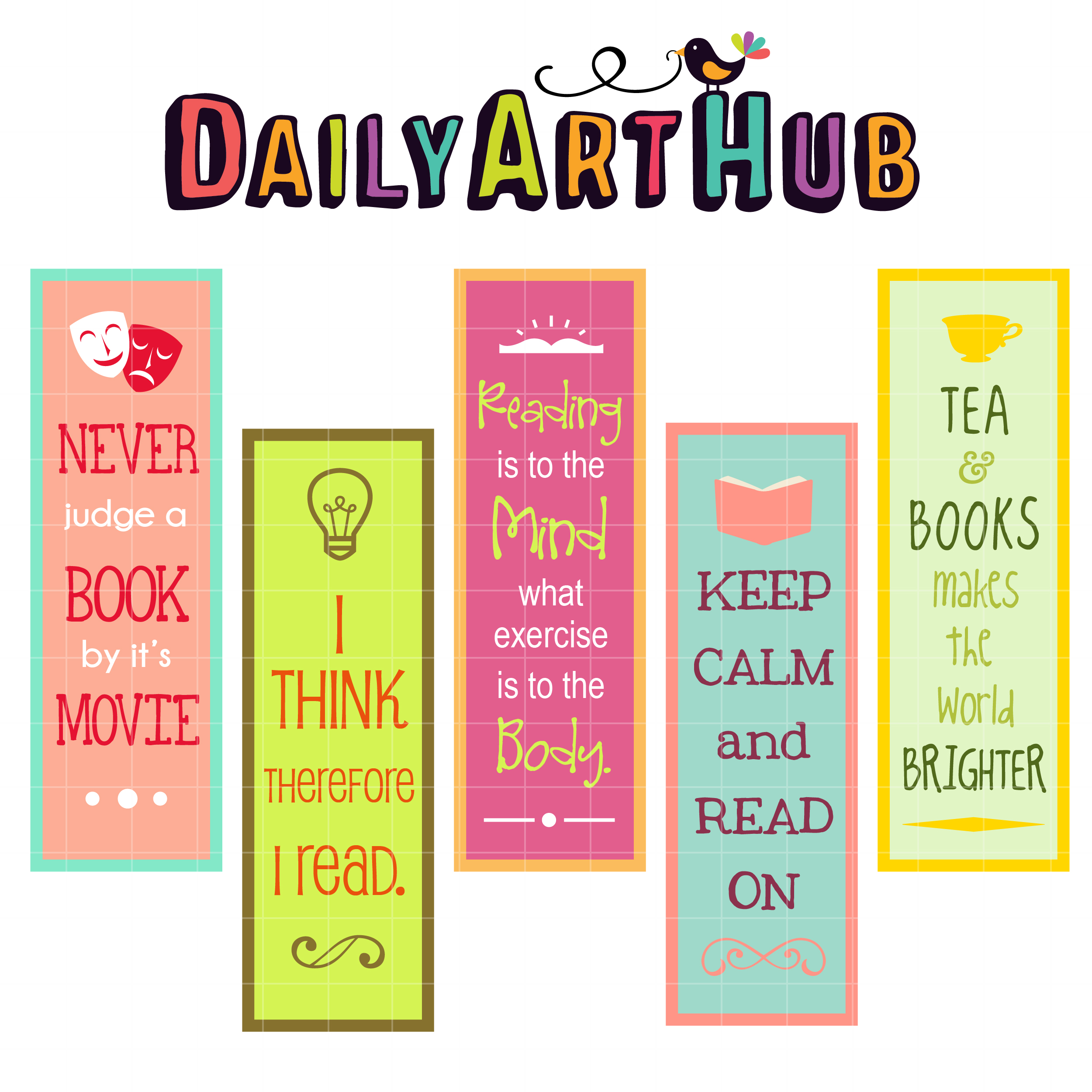 reaading quotes bookmarks clip art set daily art hub free clip
