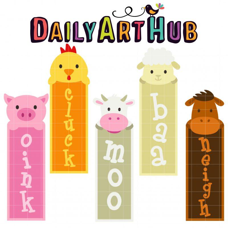 DAH_Cute Farm Animals Bookmarks