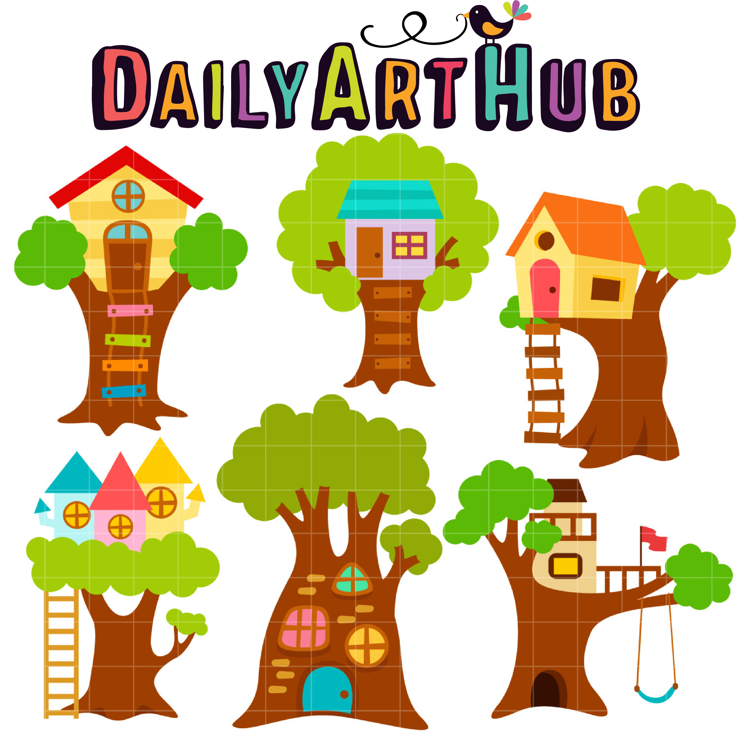 cute treehouses clip art set daily art hub free clip art everyday rh dailyarthub com treehouse clipart treehouse clipart free