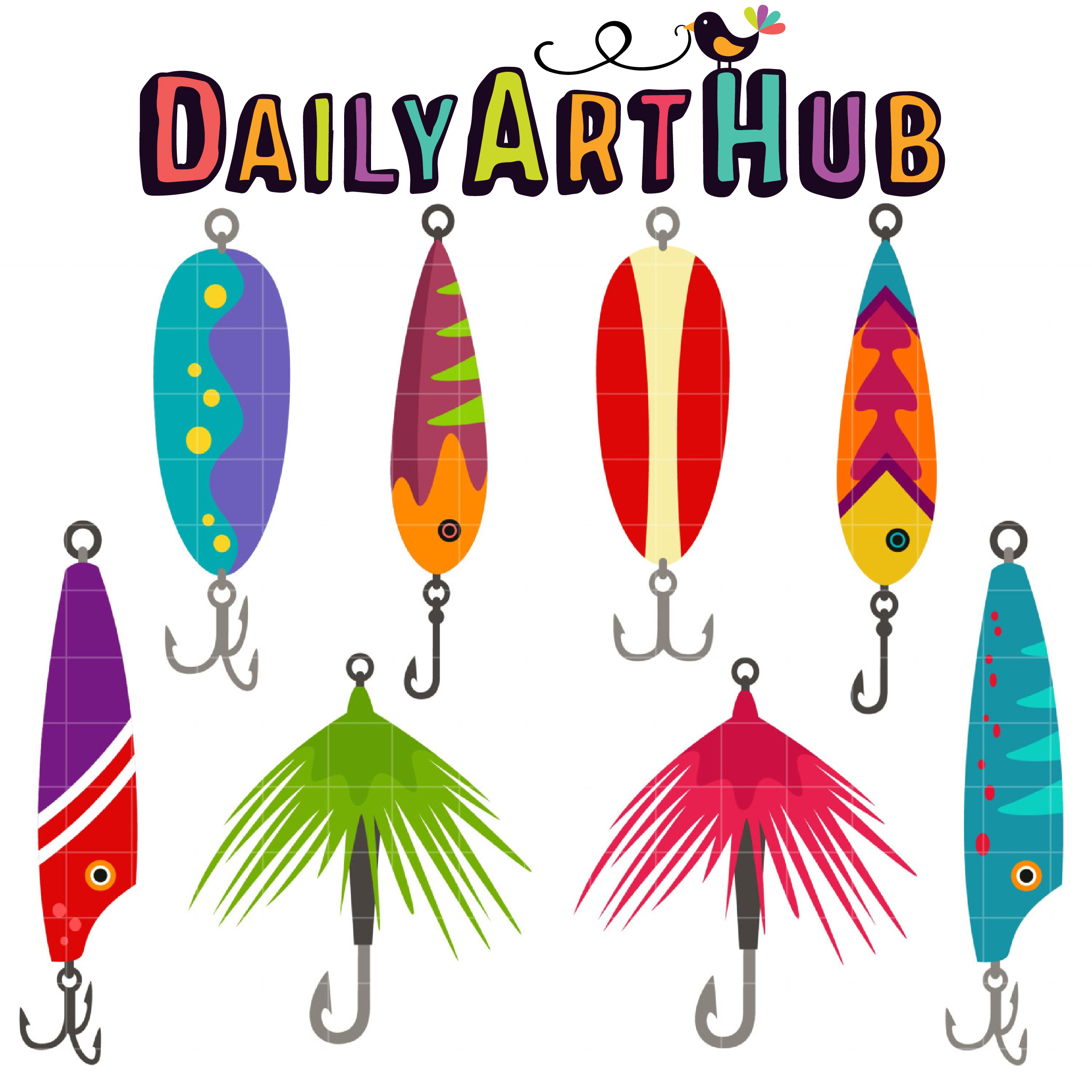 Download Fishing Lures Clip Art Set Daily Art Hub Free Clip Art Everyday