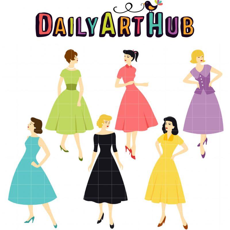 DAH_Vintage Fashion Girls