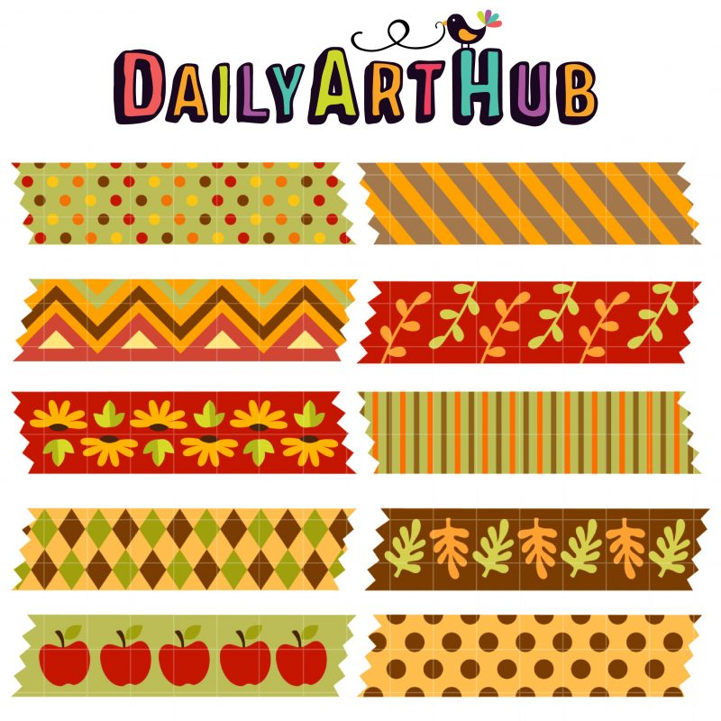 DAH_Autumn Washi Tapes