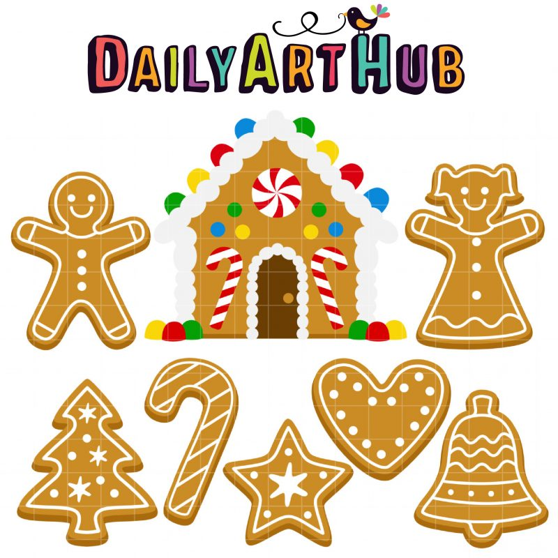 DAH_Gingerbread House and Cookies