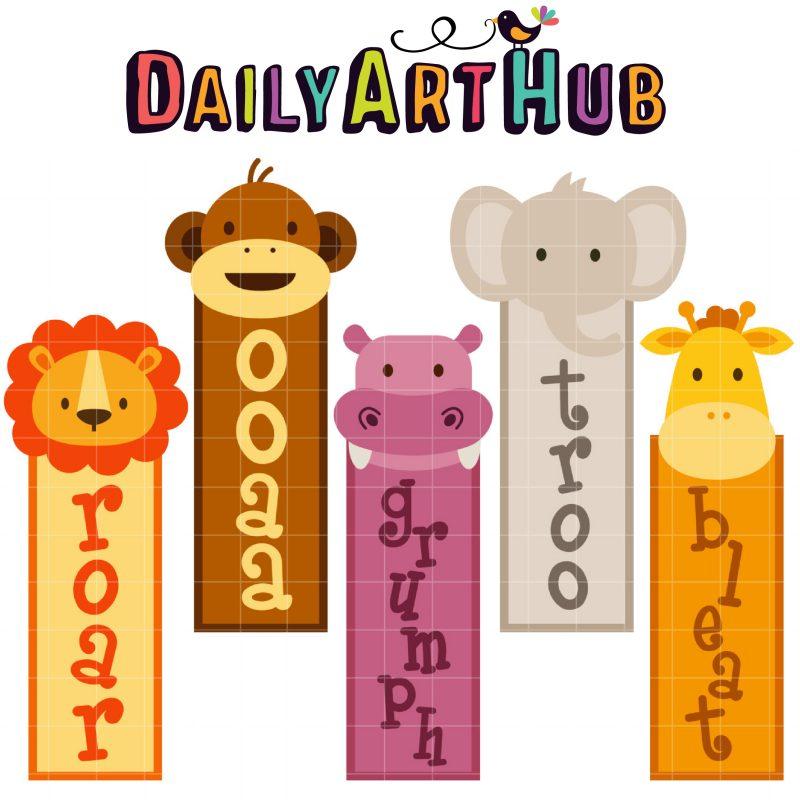 DAH_Jungle Animal Bookmarks