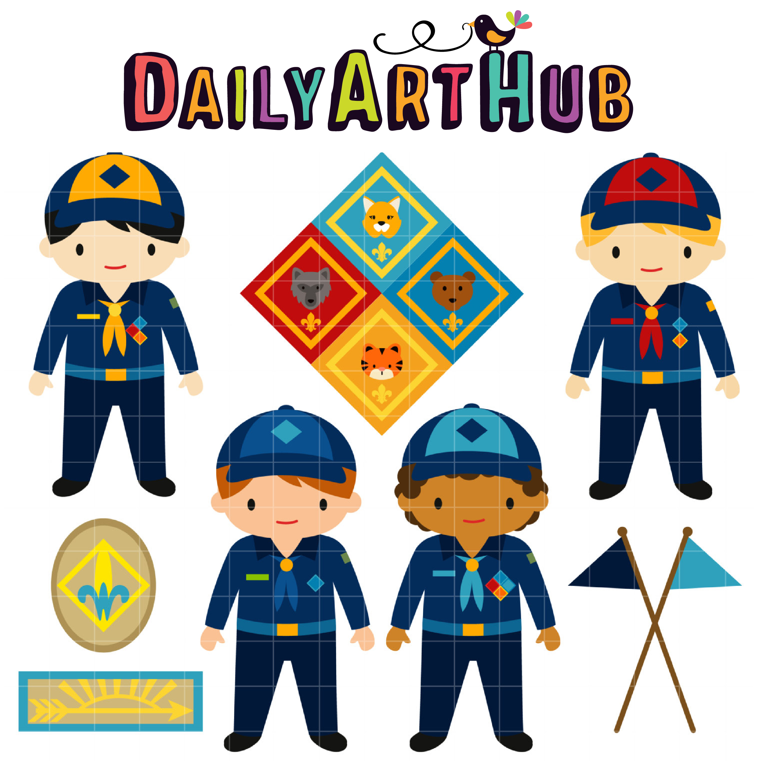 It is a graphic of Challenger Cub Scouts Graphics