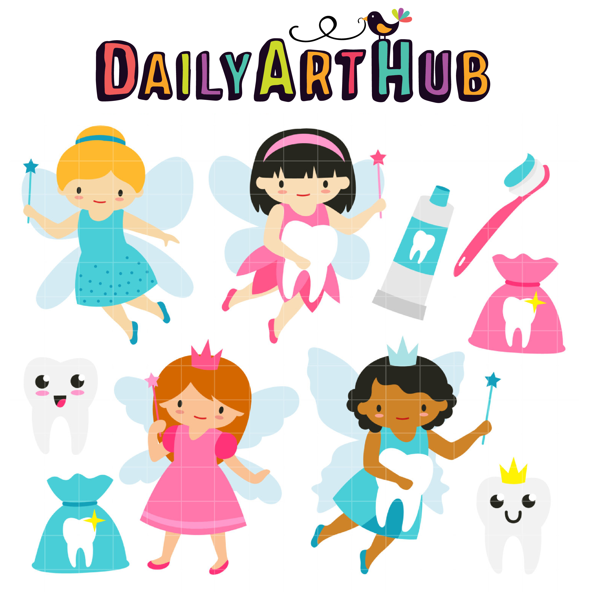 tooth fairy clip art set daily art hub free clip art everyday rh dailyarthub com tooth fairy clipart free tooth fairy clip art images