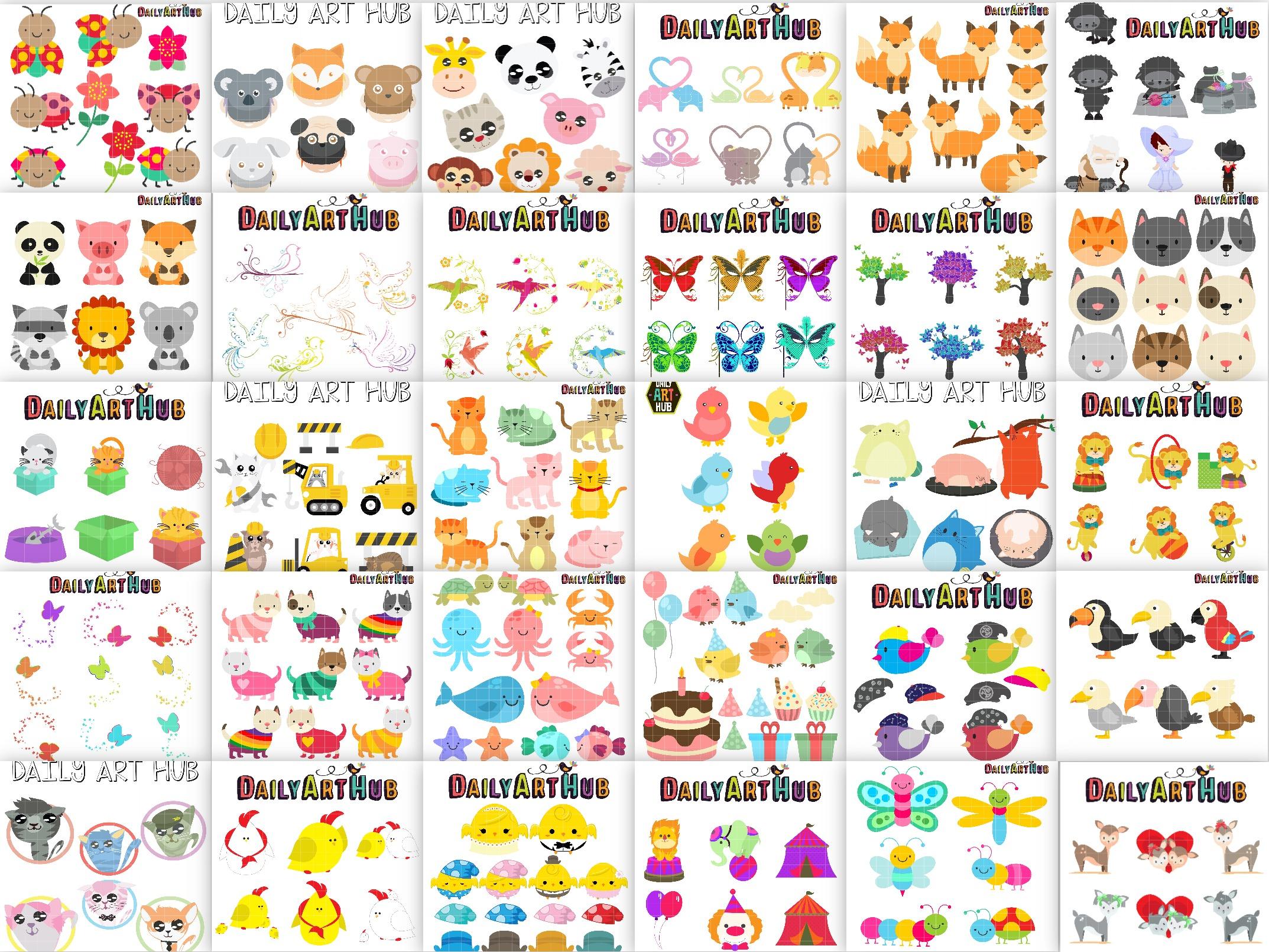100 art sets for $5. 99 – animal mega clip art pack for crafts.