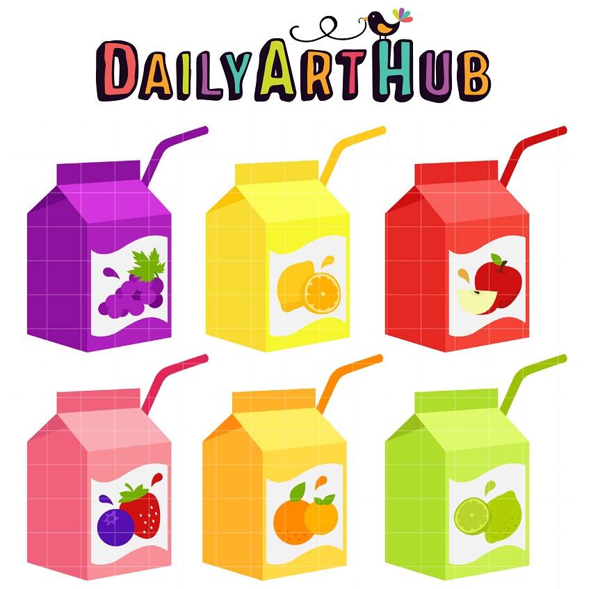 Juice Box Clip Art Set – Daily Art Hub – Free Clip Art ...