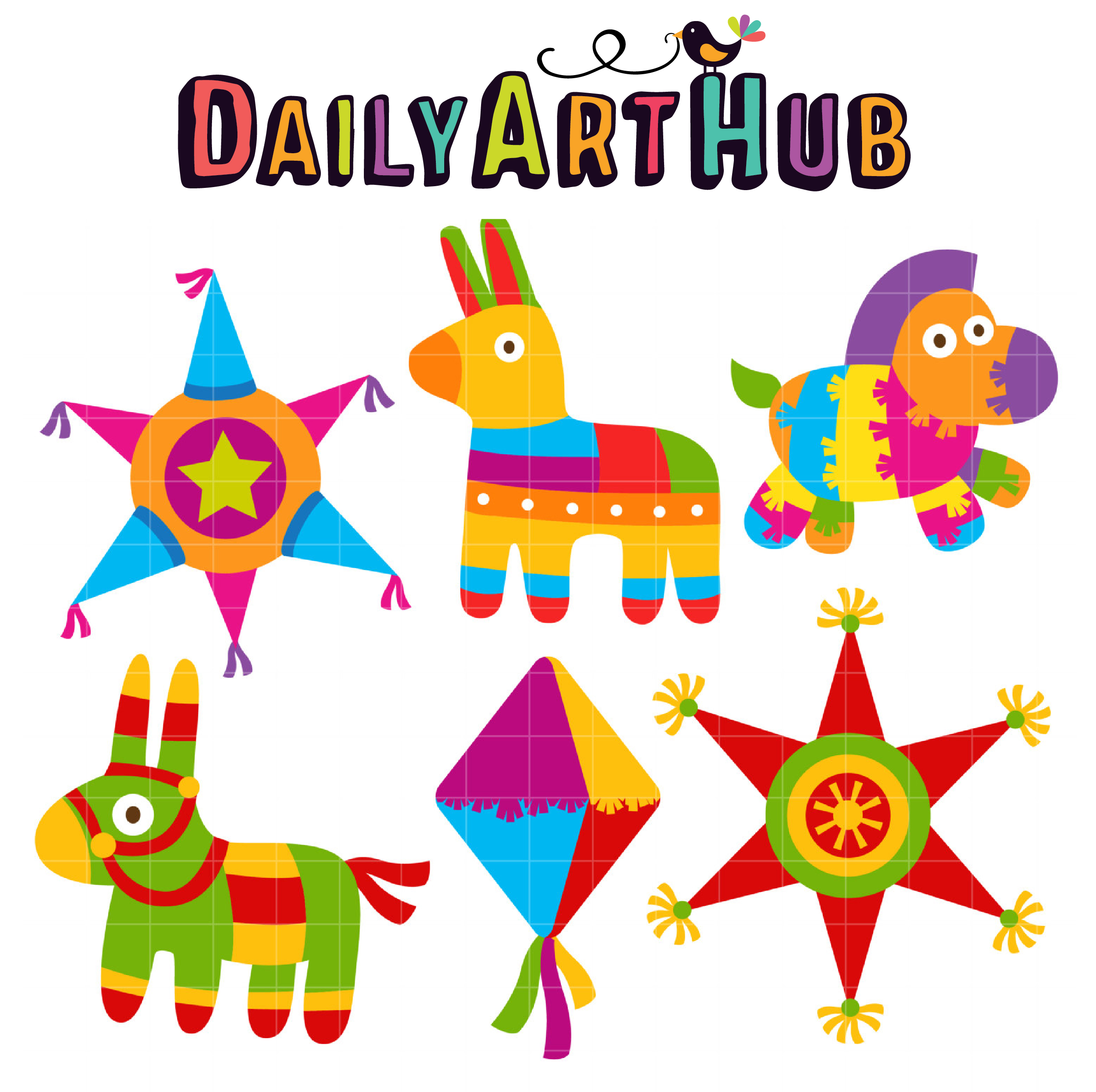 fiesta pinatas clip art set daily art hub free clip art everyday rh dailyarthub com star pinata clipart pinata clipart images