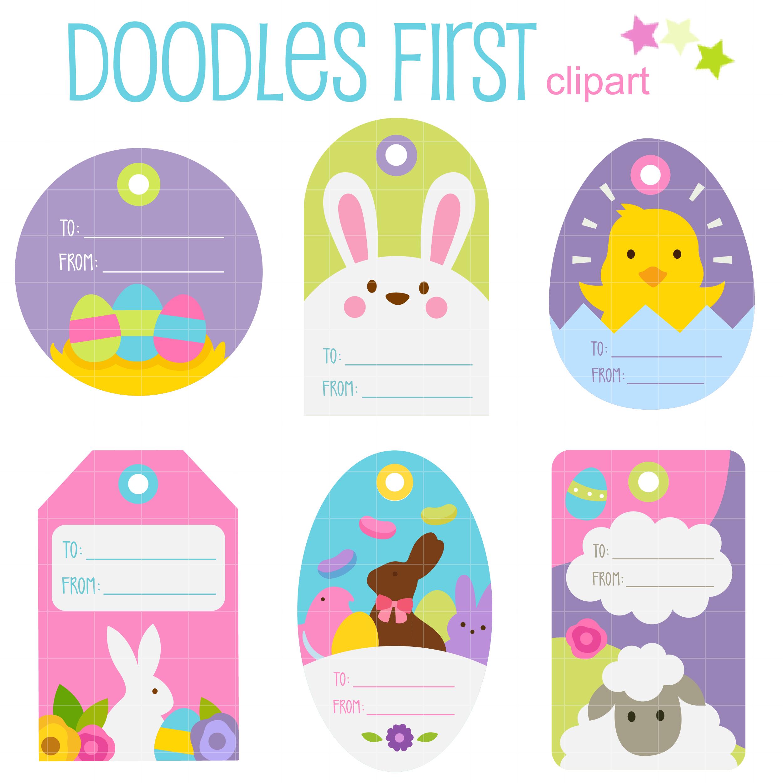 Easter gift tags clip art set daily art hub free clip art everyday easter gift tags negle Images