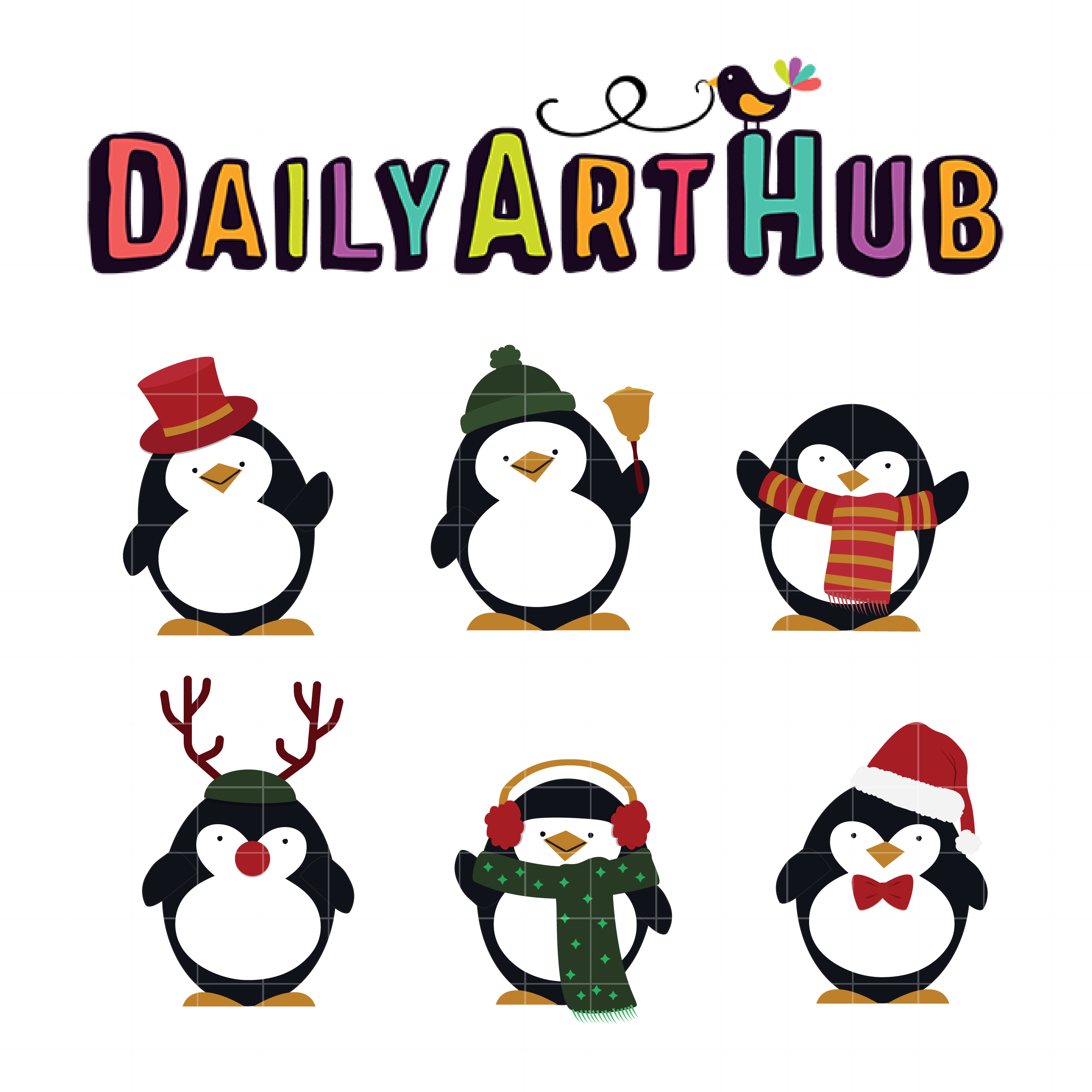 Christmas Penguins Clip Art Set – Daily Art Hub – Free Clip Art Everyday