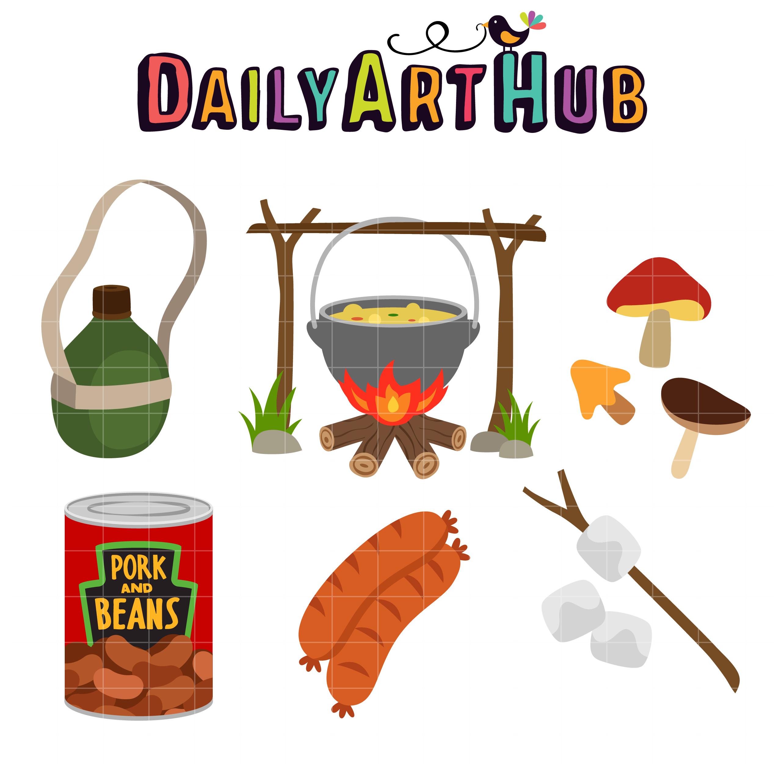 Camping Foods Clip Art Set Daily Art Hub Free Clip Art Everyday
