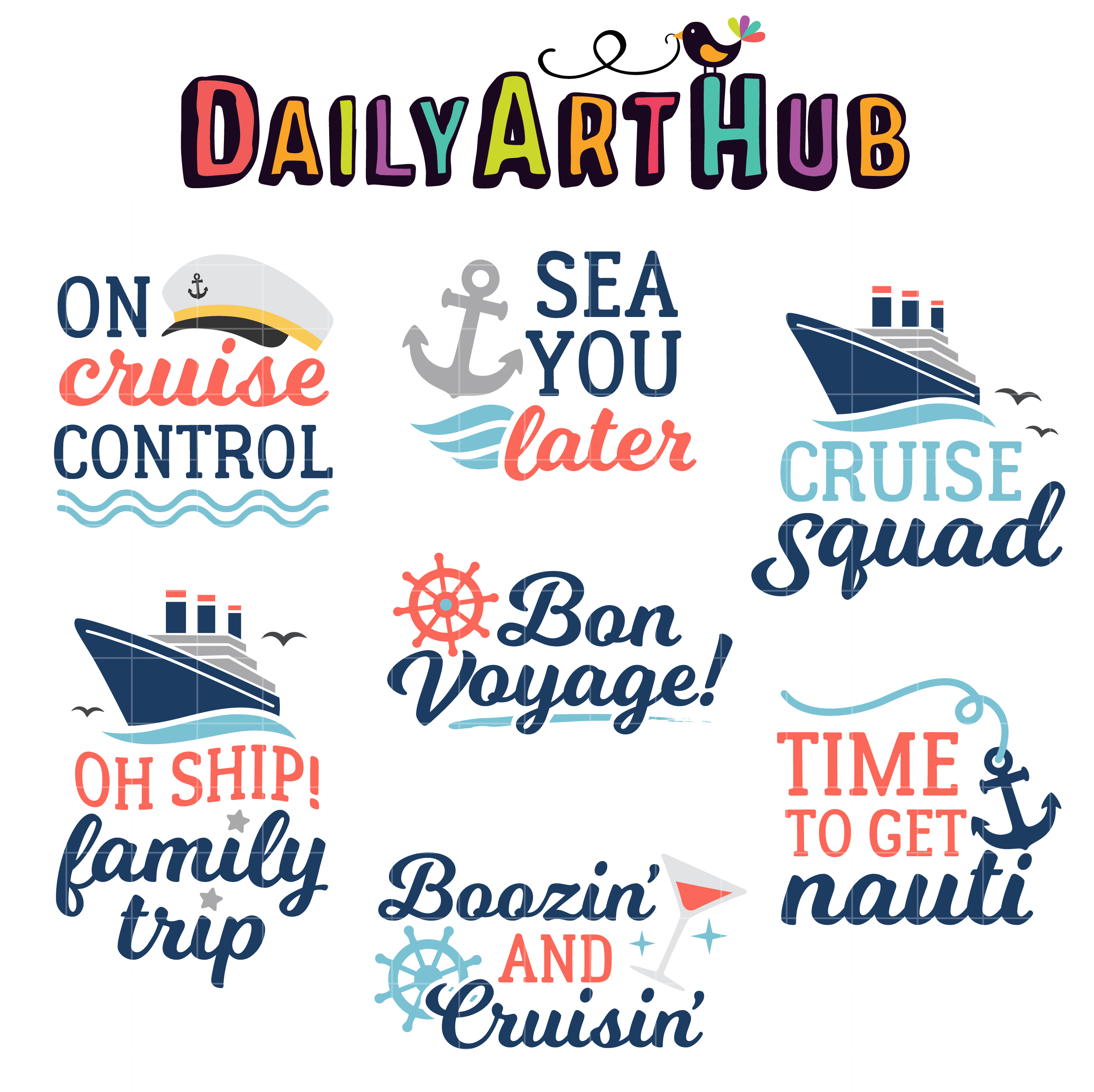 Cruise Quotes Clip Art Set Daily Art Hub Free Clip Art Everyday