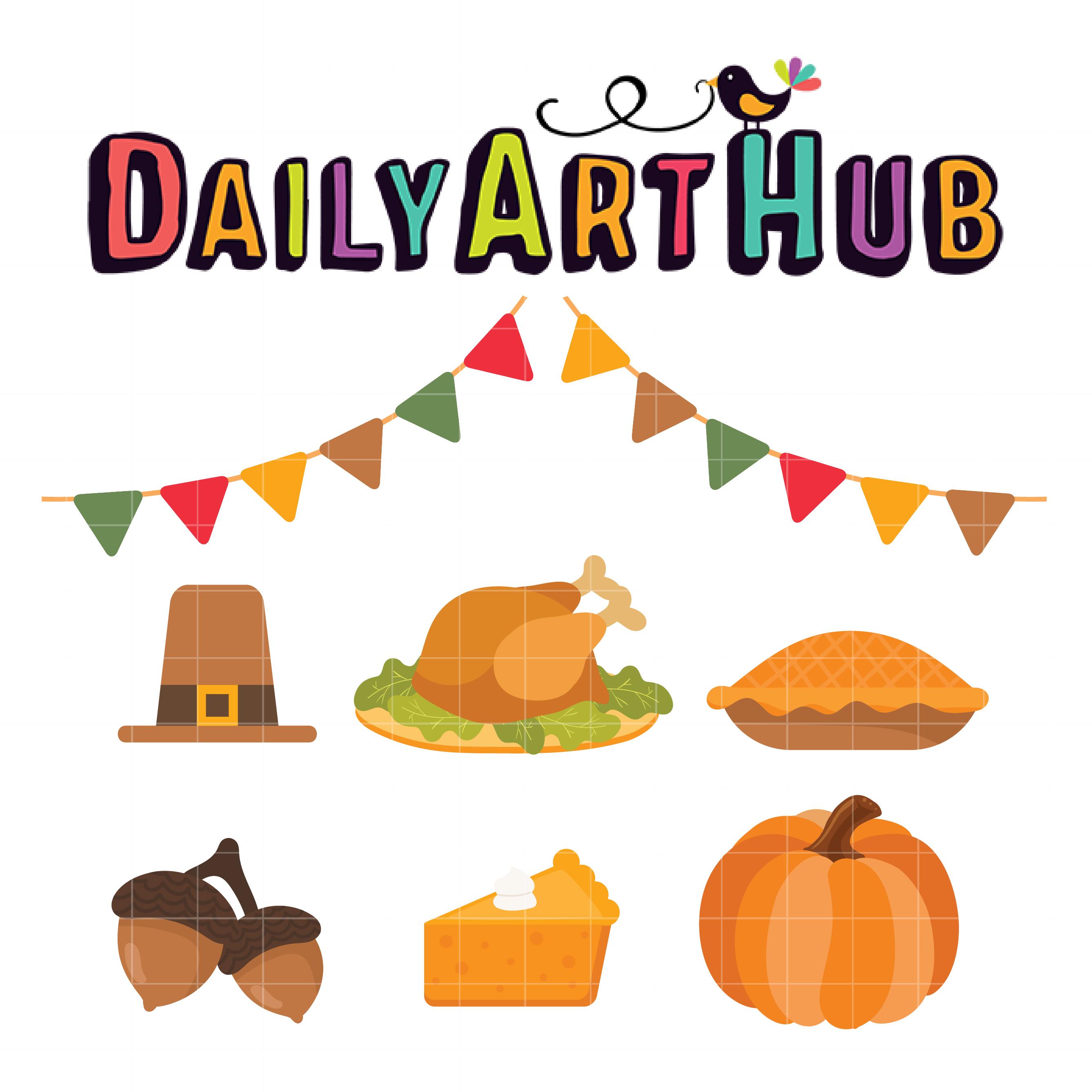 Thanksgiving Foods Clip Art Set - Daily Art Hub - Free ...